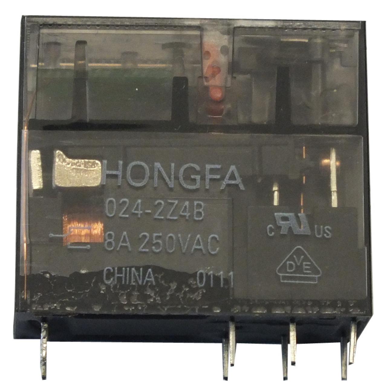 HONGFA Relais- 24 V- 2 Öffner-Schliesser- HF115FP-024-2Z4B