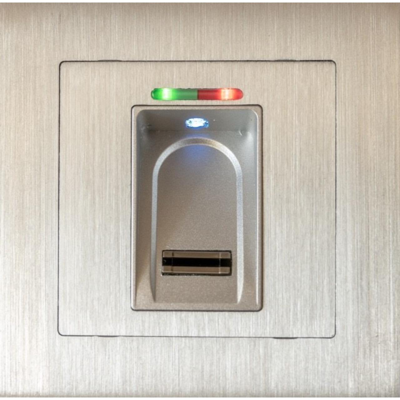 Idencom BioKey Gate Fingerabdruckscanner- Unterputz-Version