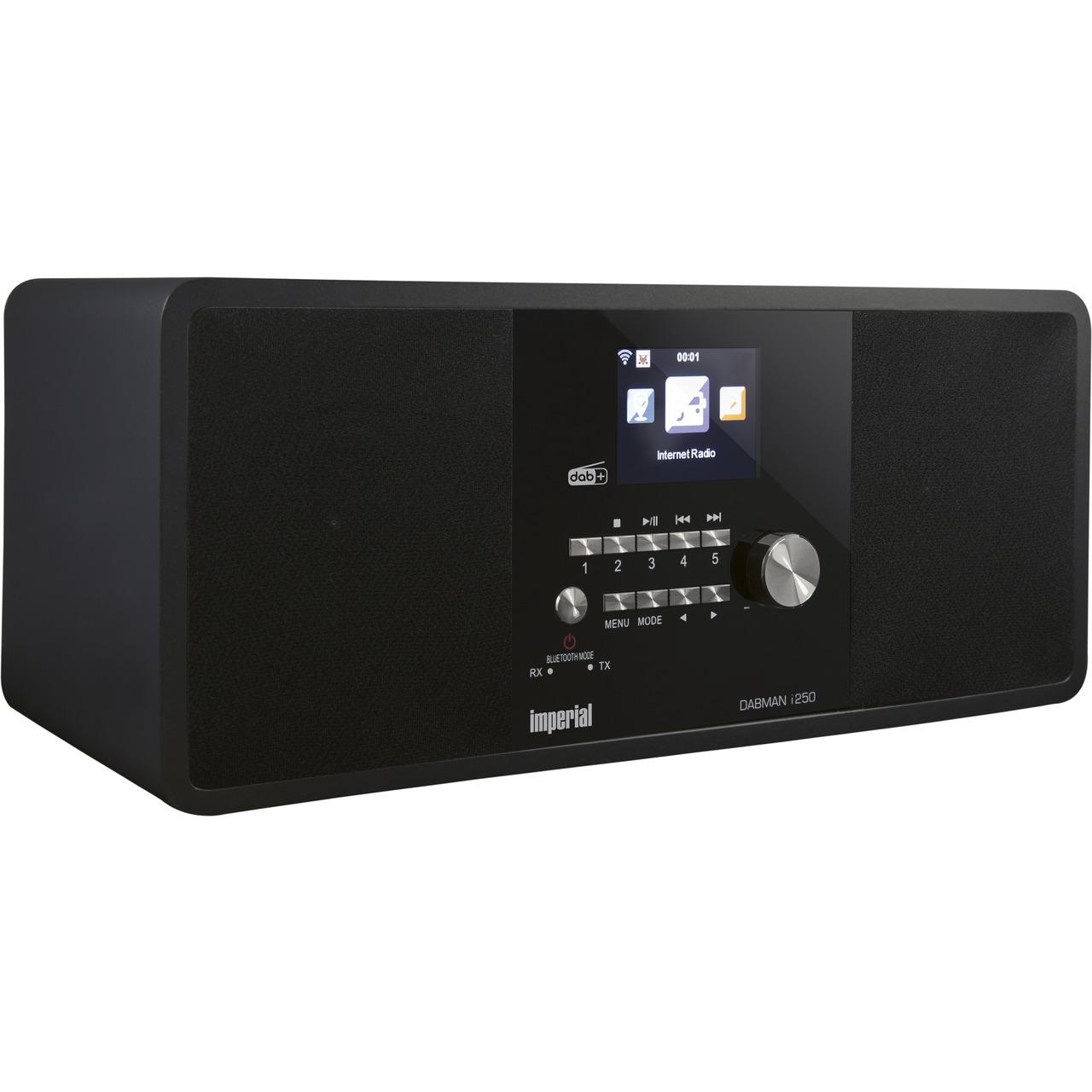 Imperial Hybridradio DABMAN i250- UKW-DAB+-Internetradio- Bluetooth-Sender-Empfänger- 20-W-RMS