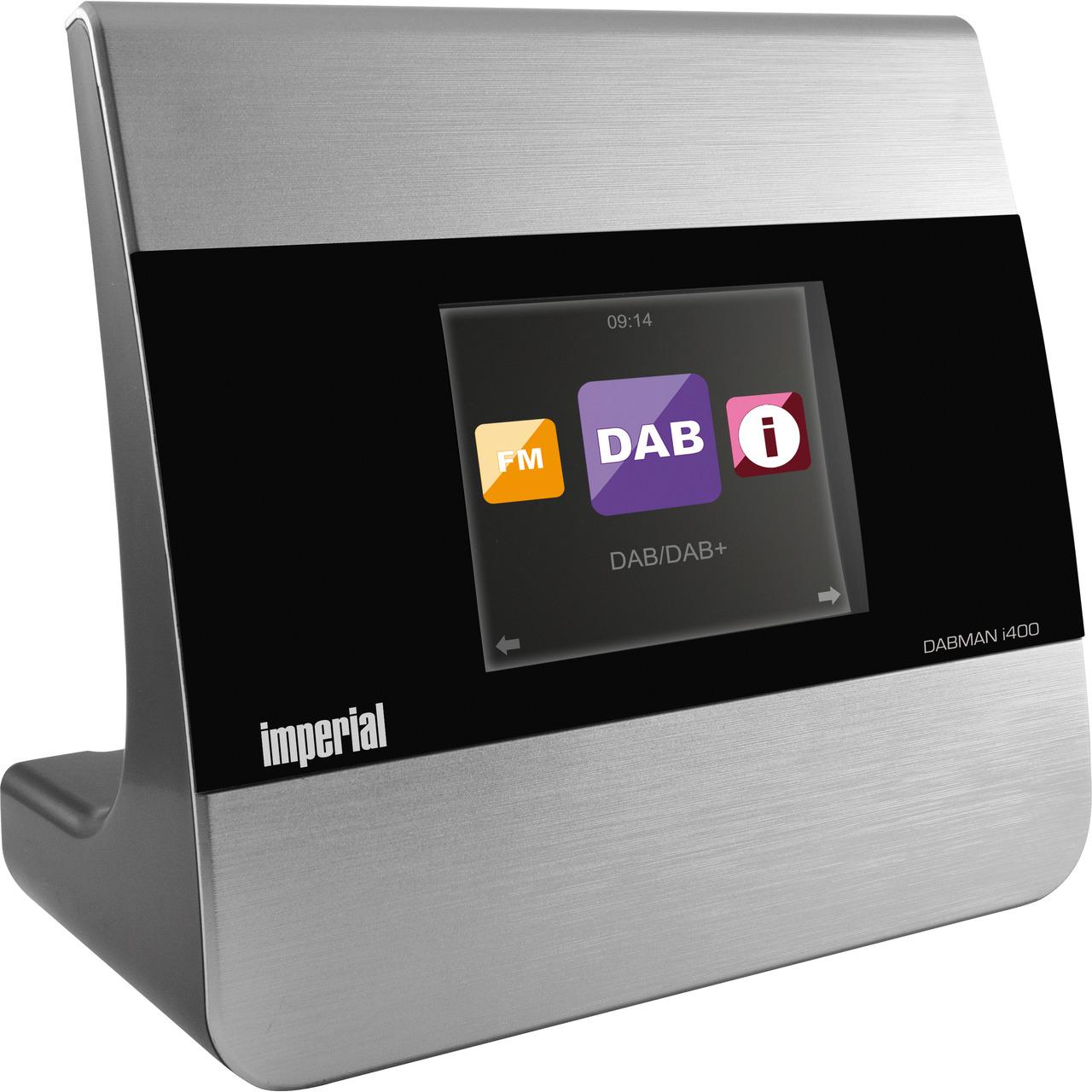 Imperial Radio-Adapter Dabman i400- DAB+-UKW-Internetradio- mit Bluetooth und USB- silber