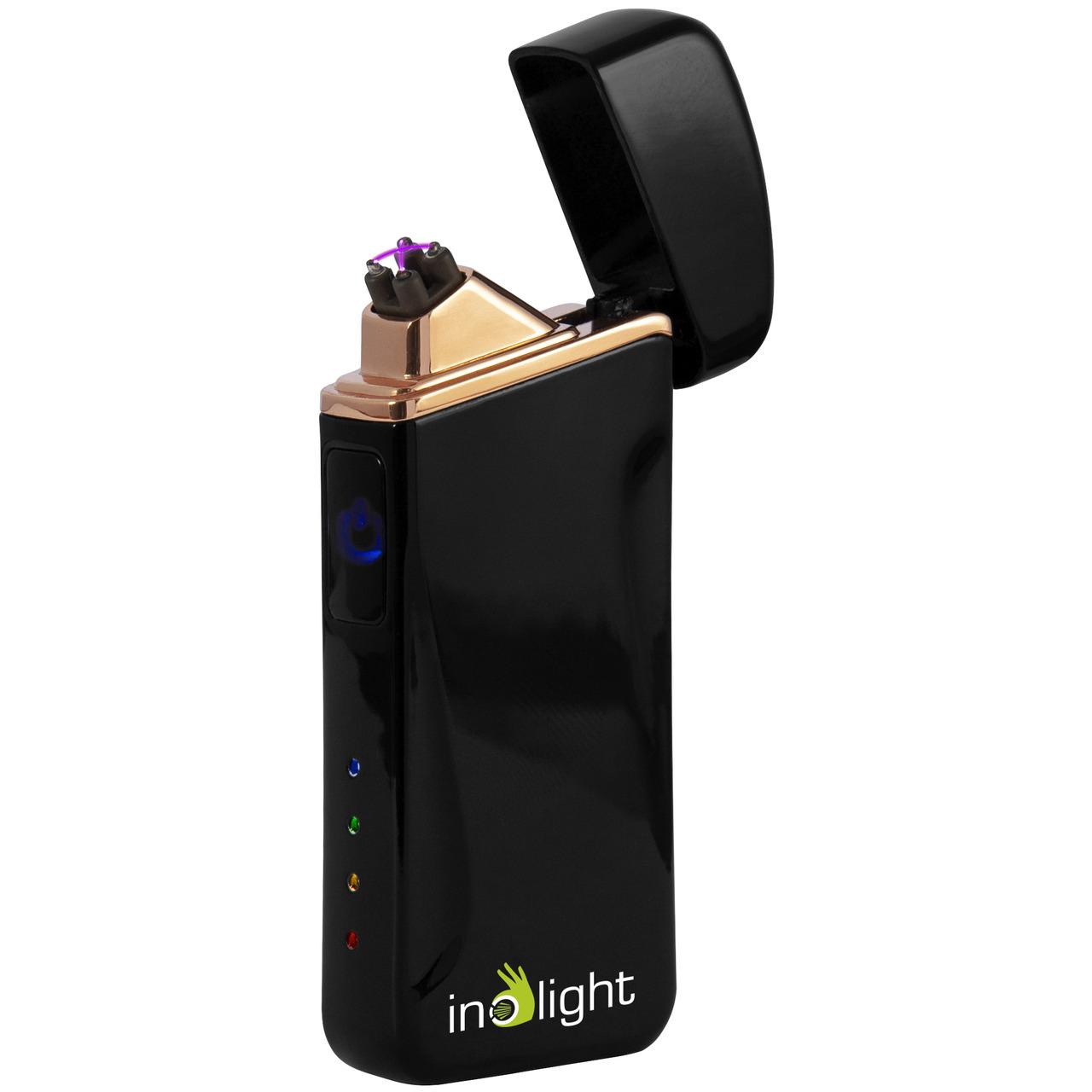 inolight Lichtbogen-Feuerzeug CL6- zündet mit Doppellichtbogen- Metallgehäuse