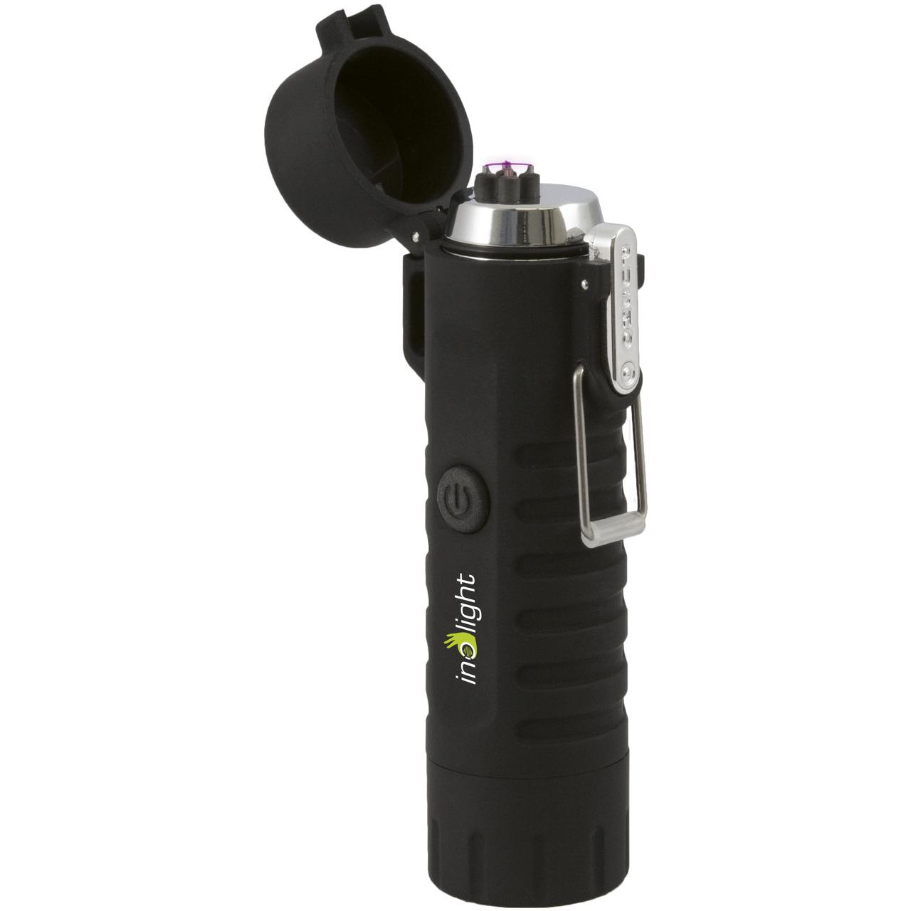 inolight Lichtbogen-Feuerzeug CL8- mit integrierter LED-Taschenlampe- wasserdicht