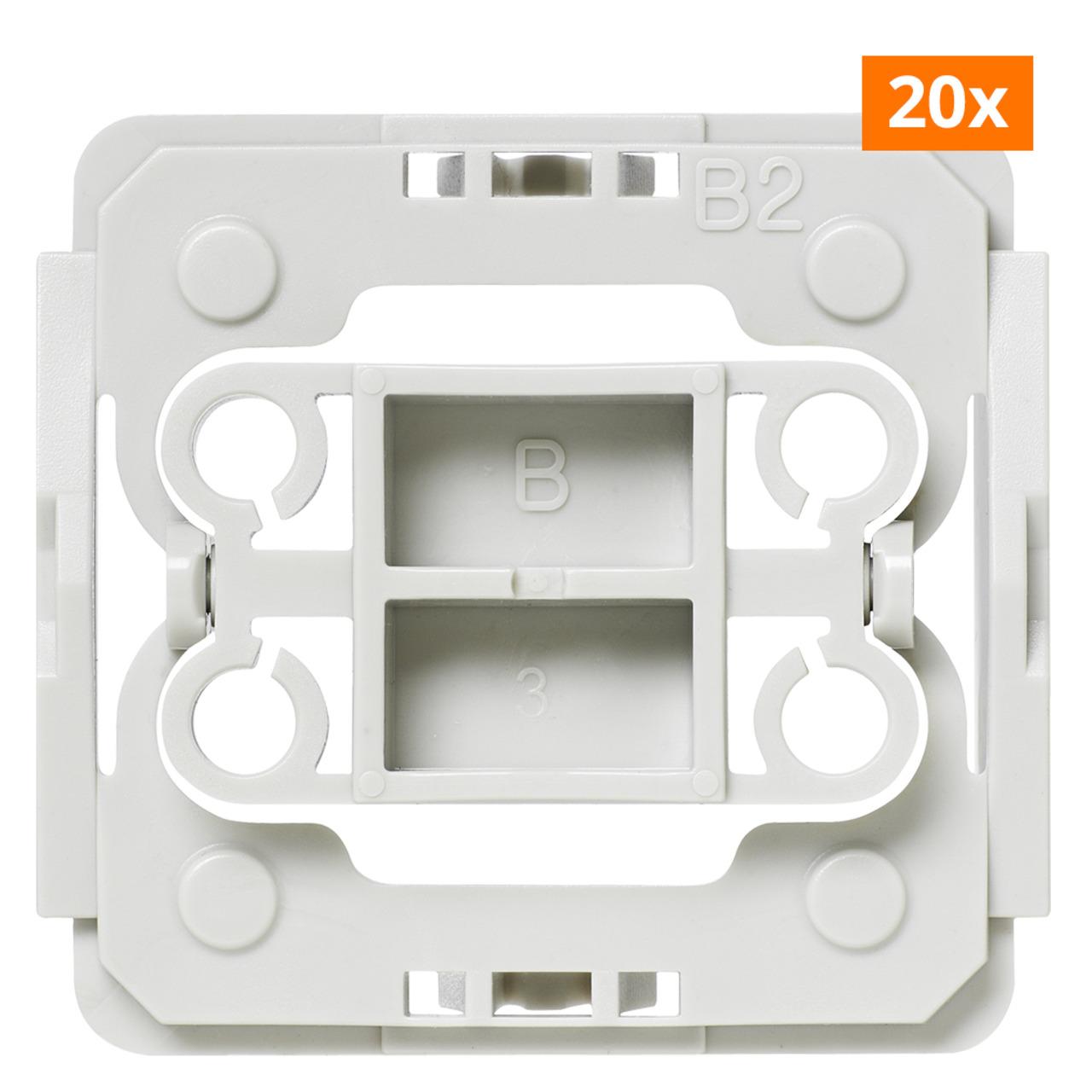 Installationsadapter für Berker-Schalter- 20er-Set für Smart Home - Hausautomation