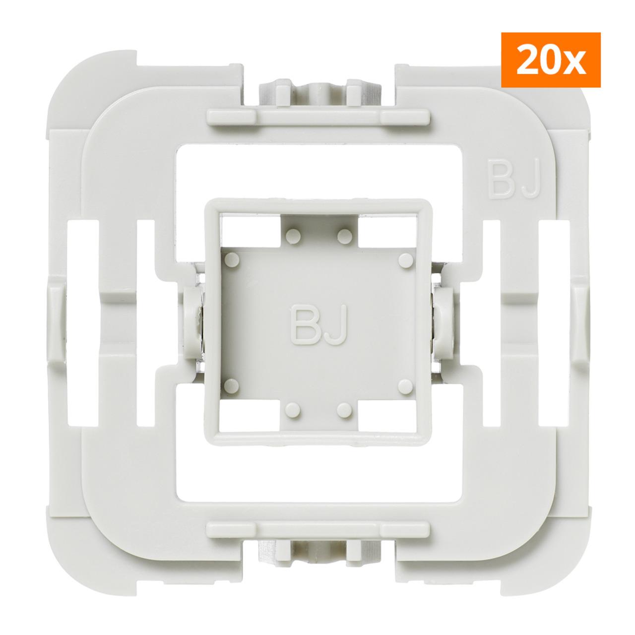 Installationsadapter für Busch-Jäger-Schalter- 20er-Set für Smart Home - Hausautomation