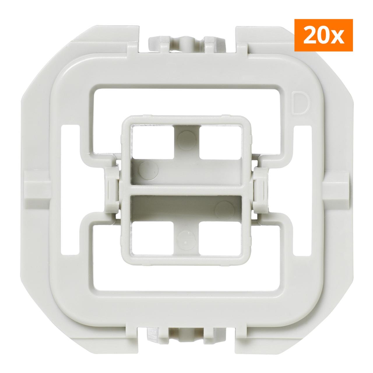 Installationsadapter für Düwi-Popp-Schalter- 20er-Set für Smart Home - Hausautomation