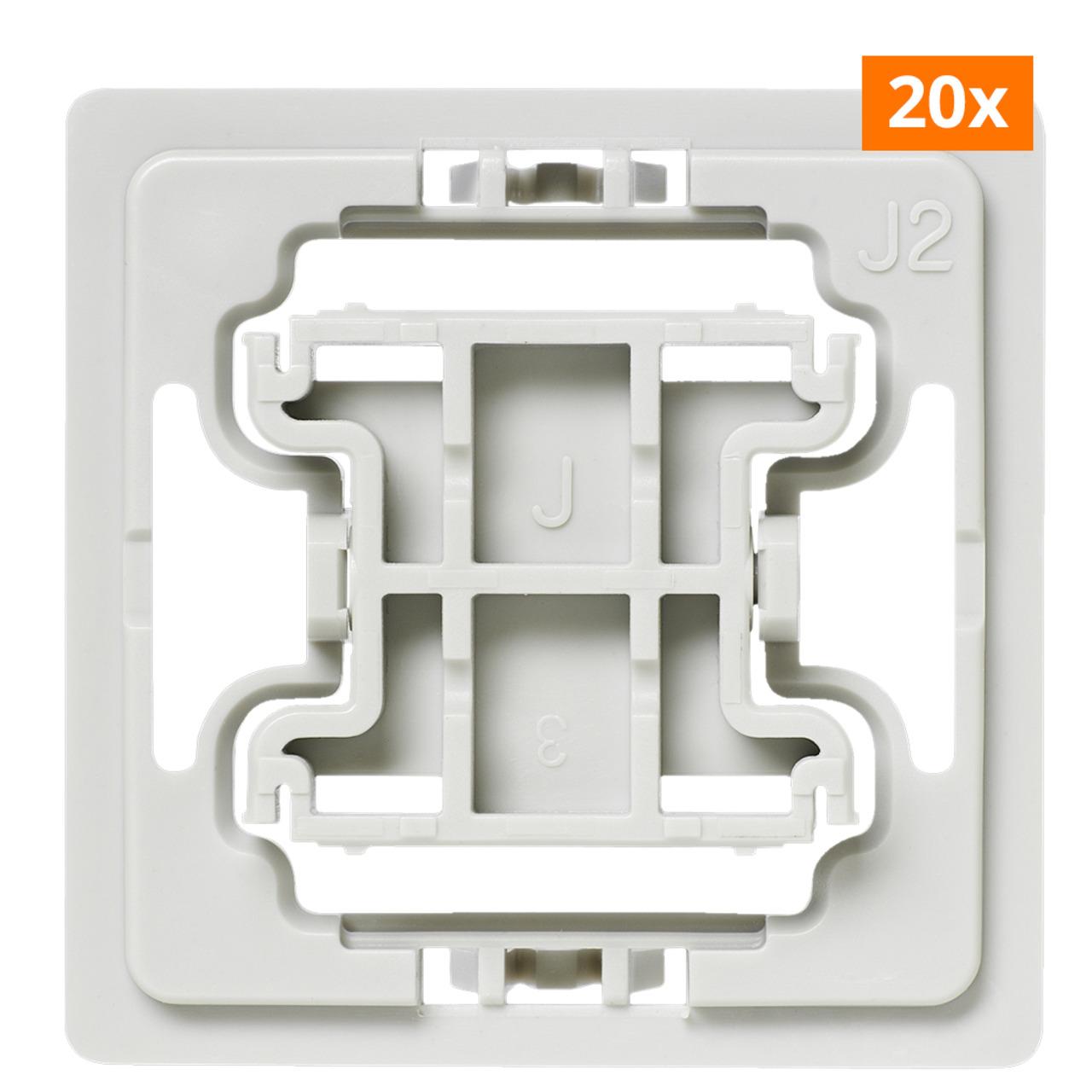 Installationsadapter für Jung-Schalter- J2- 20er-Set für Smart Home - Hausautomation