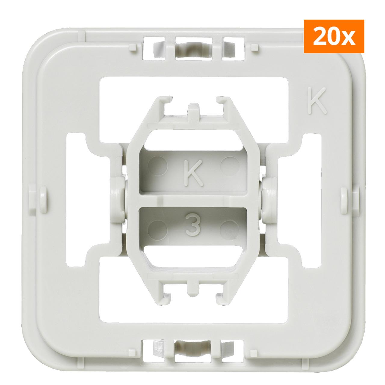 Installationsadapter für Kopp-Schalter- 20er-Set für Smart Home - Hausautomation
