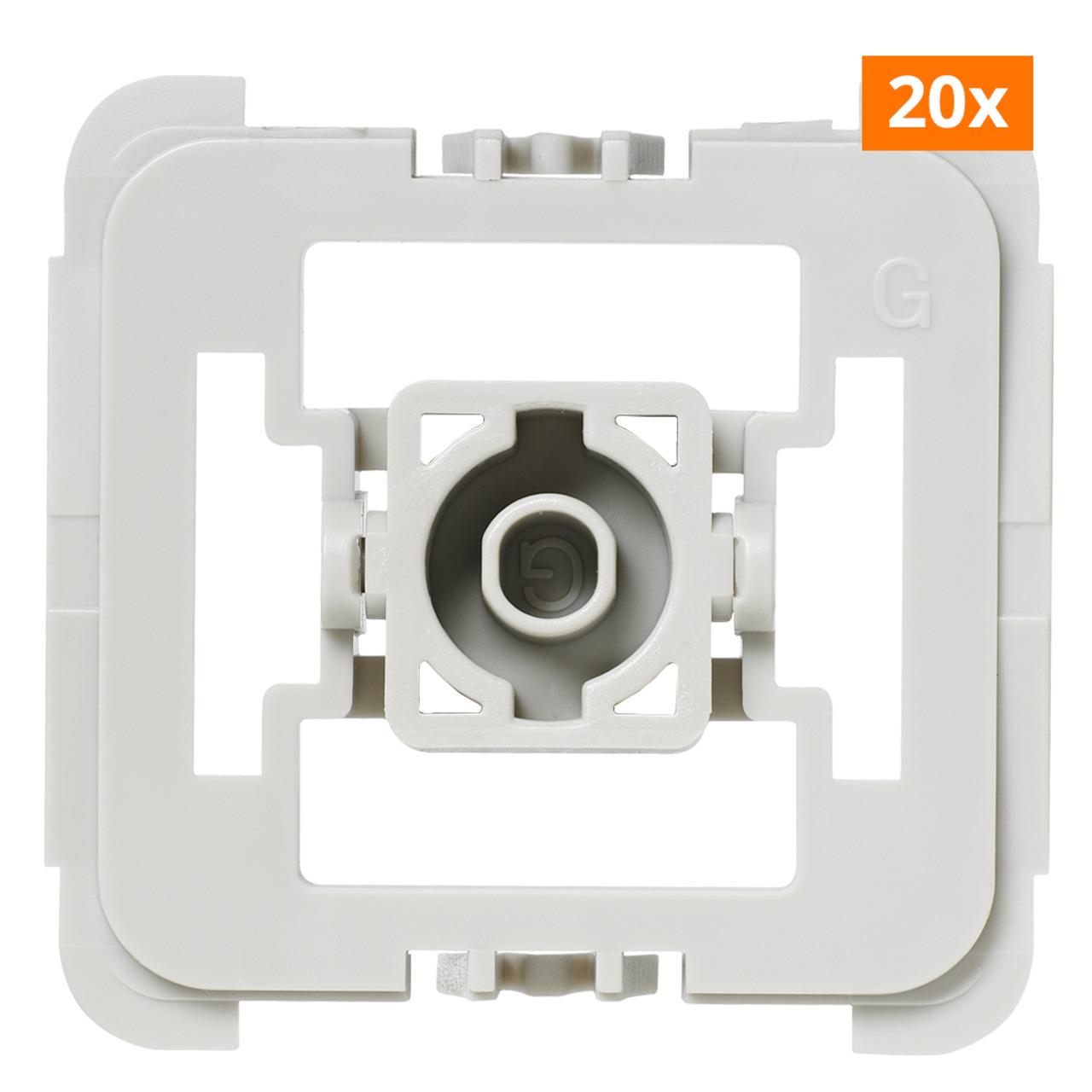 Installationsadapter für Schalter Gira 55- 20er-Set für Smart Home - Hausautomation