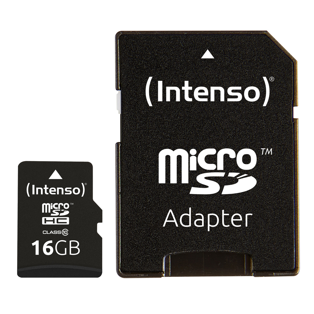 Intenso microSD-Karte- Class 10- mit SD-Adapter- 40 MB-s- 16 GB