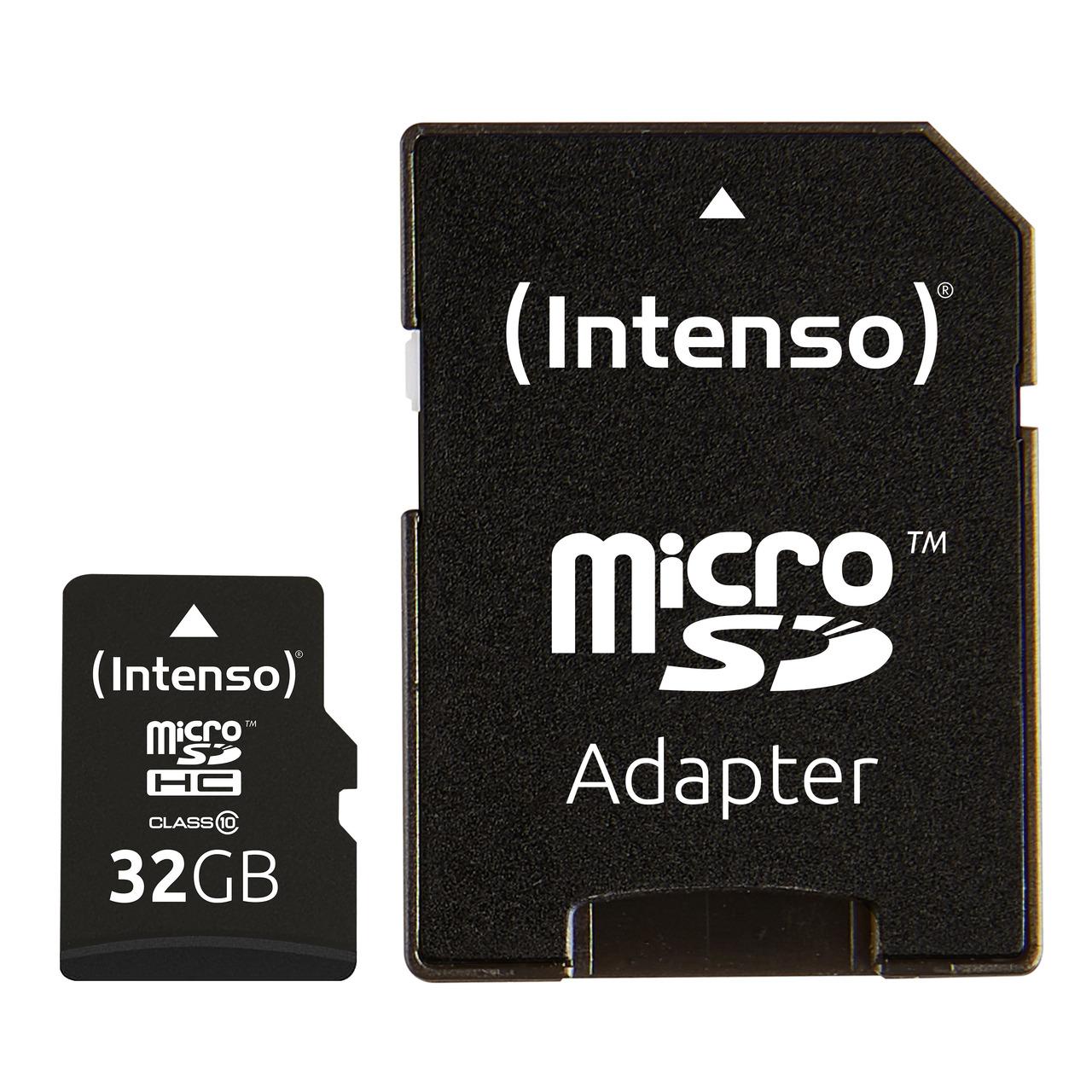 Intenso microSD-Karte- Class 10- mit SD-Adapter- 40 MB-s- 32 GB