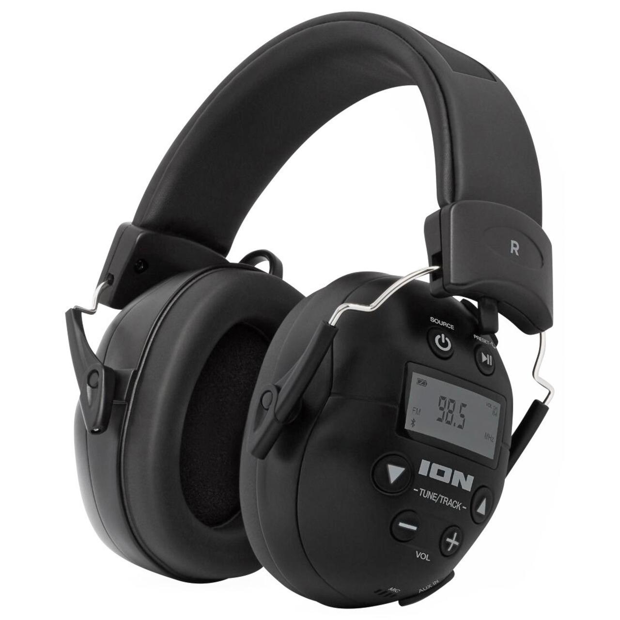 ION Audio Kapselgehörschutz-Kopfhörer ToughSounds 2- Bluetooth- Radio- Akku- 27 dB NRR