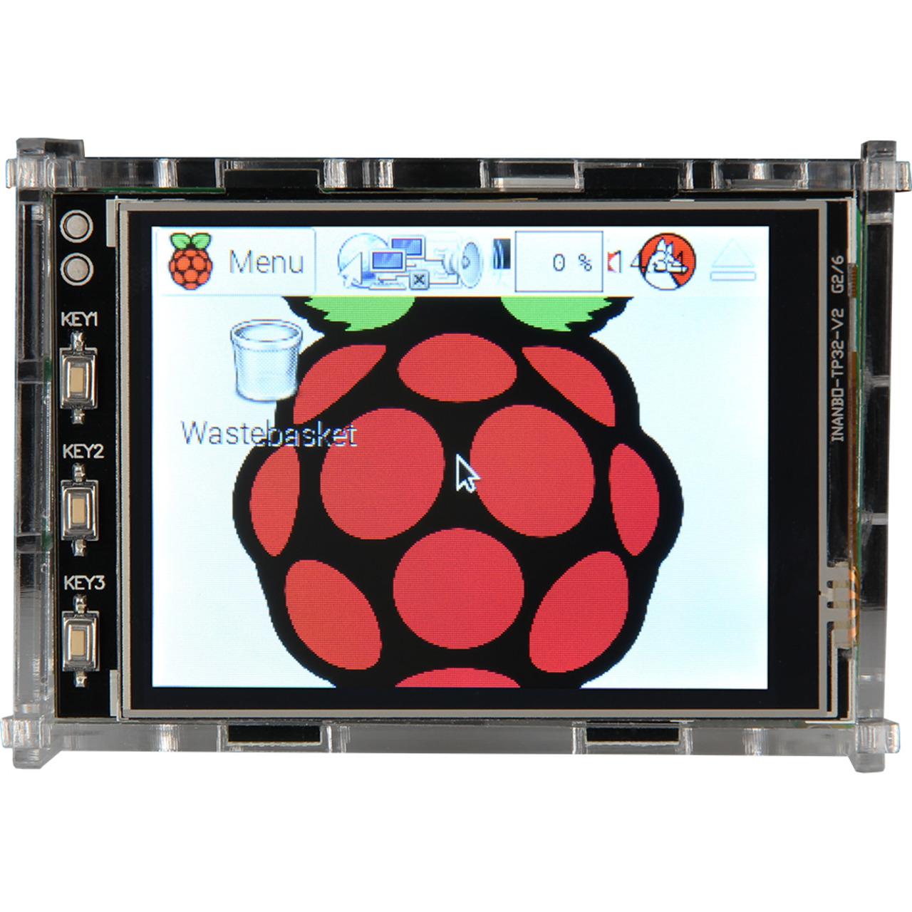 Joy-IT Acryl Gehäuse für Raspberry Pi und das 8-128-cm-(3-2)-Display