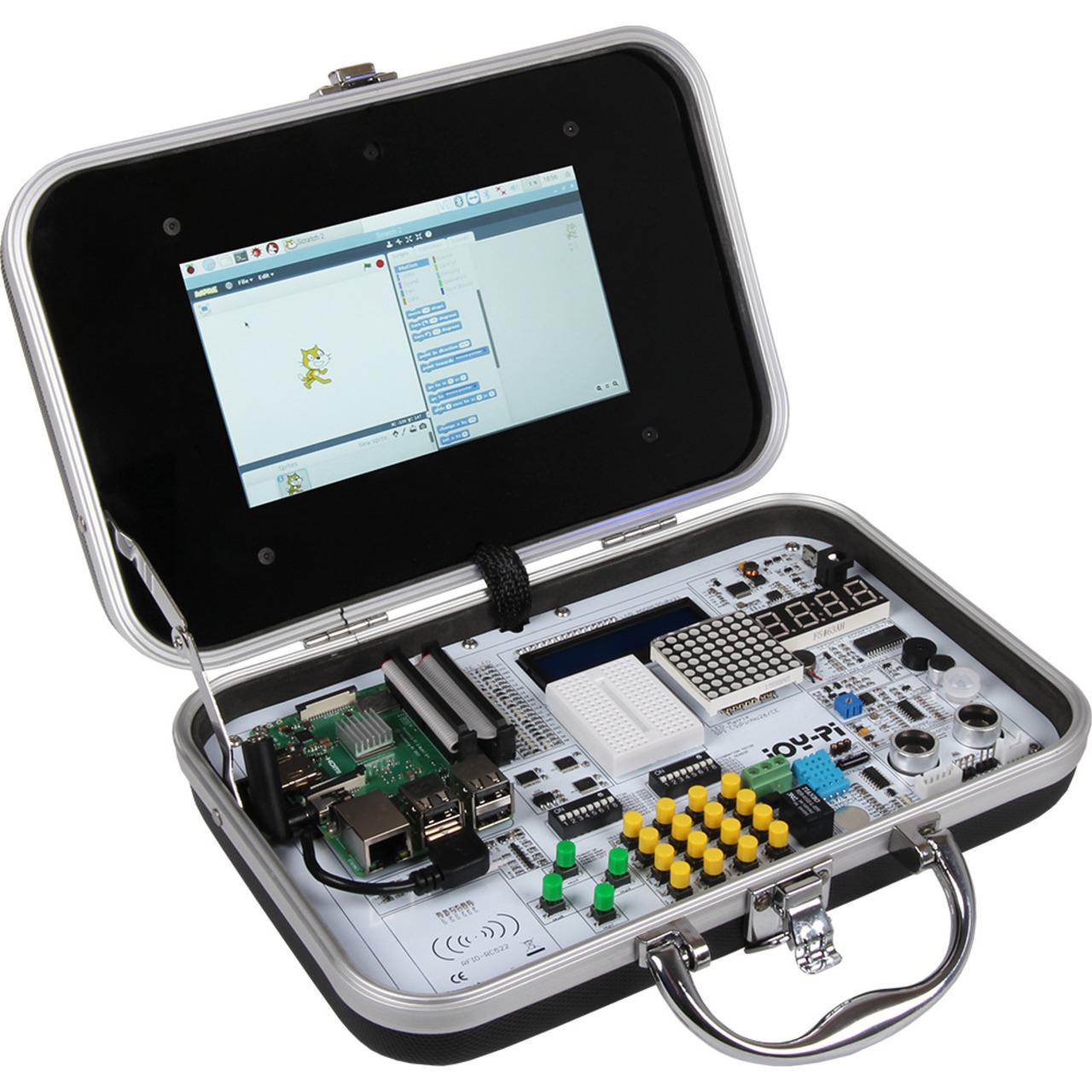 JOY-iT Experimentier- und Ausbildungskoffer JoyPi fund-252 r Raspberry Pi