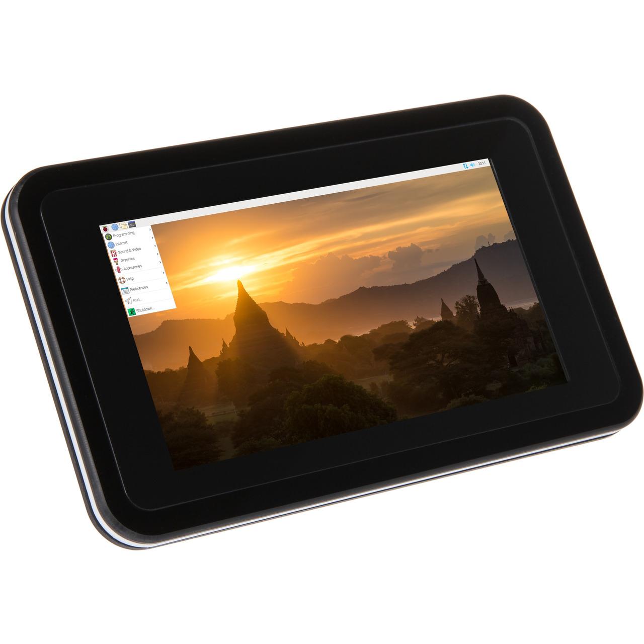 Joy-IT-Gehund-228 use fund-252 r orig- 17-78-cm-Touchdisplay fund-252 r Raspberry Pi 4- inkl- aktiven Kund-252 hler- schwarz