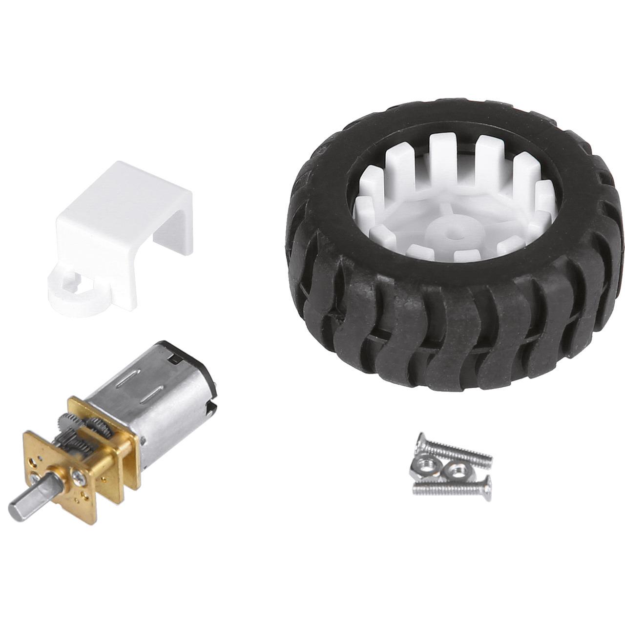 JOY-iT Getriebemotor com-motor03 mit Rad- ca- 300 min-1 bei 6 V