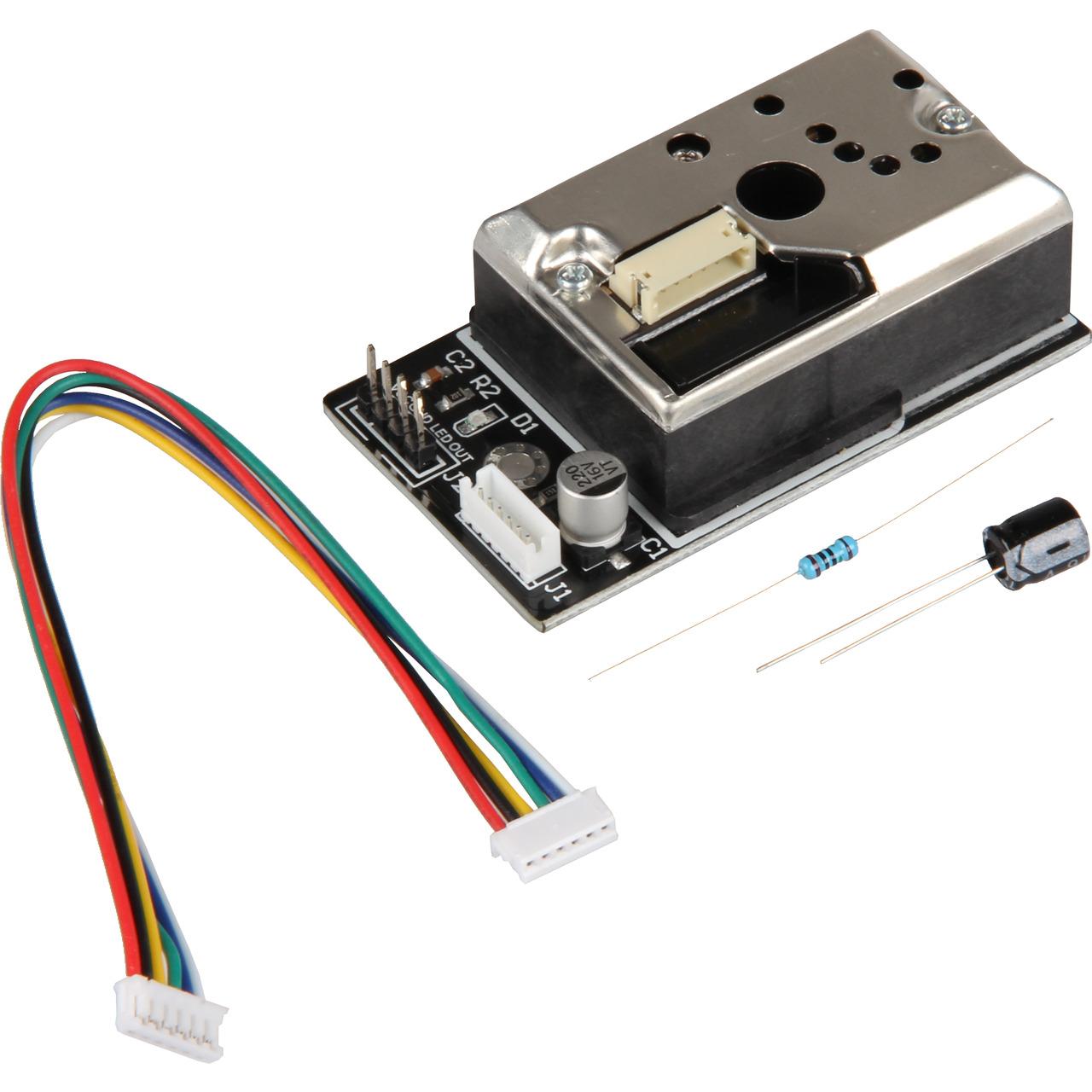 Joy-IT optischer Staubpartikelsensor- bis zu 0-8 Micron