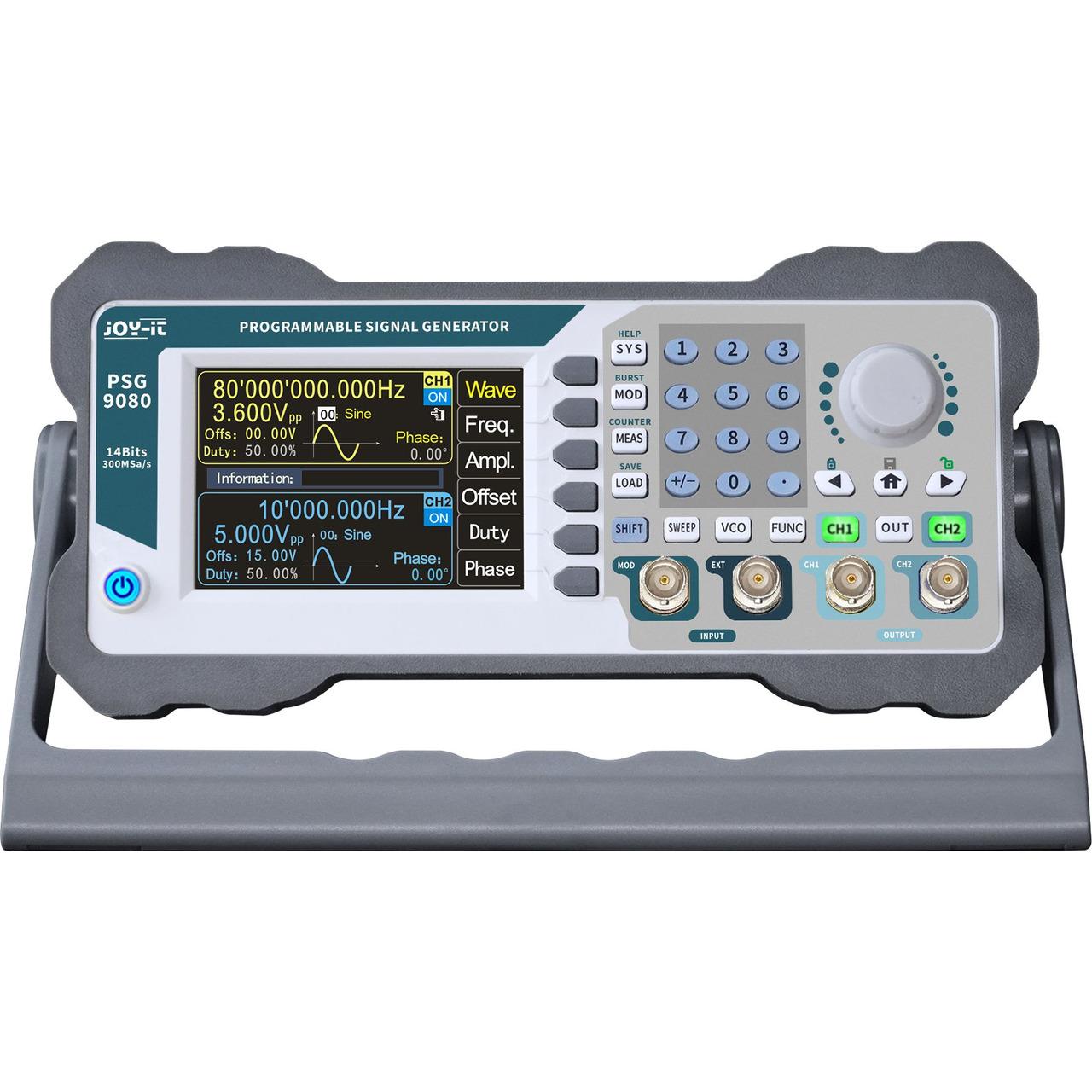 Joy-IT Programmierbarer Signalgenerator JT-PSG9080 mit Frequenzzähler- Frequenzbereich 1 nHz-80 MHz