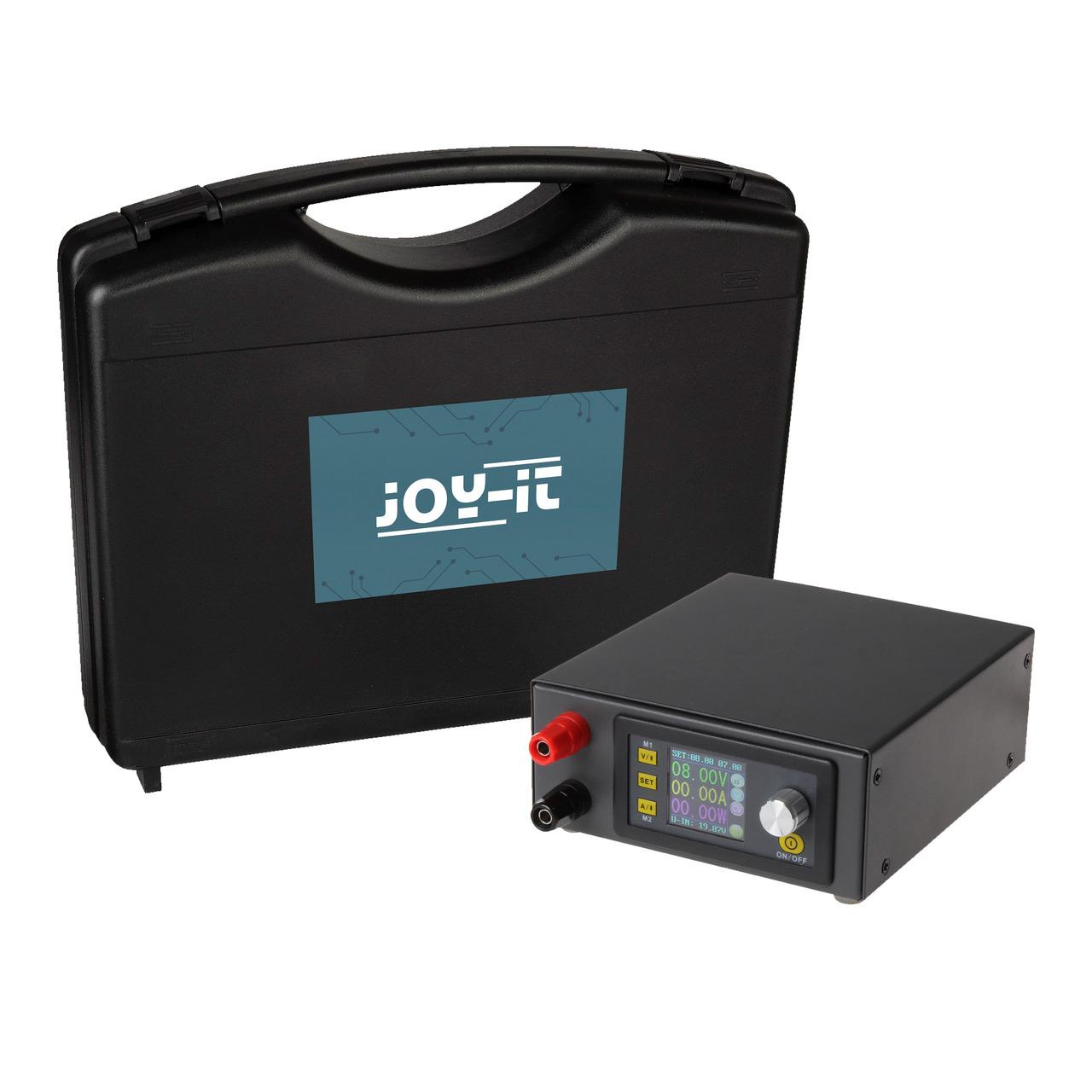 Joy-IT Step-up-Labornetzgerät JT-DPS5005 Set- inkl- Gehäuse und Zubehör- 0-50 V-0-5 A- max- 250 W