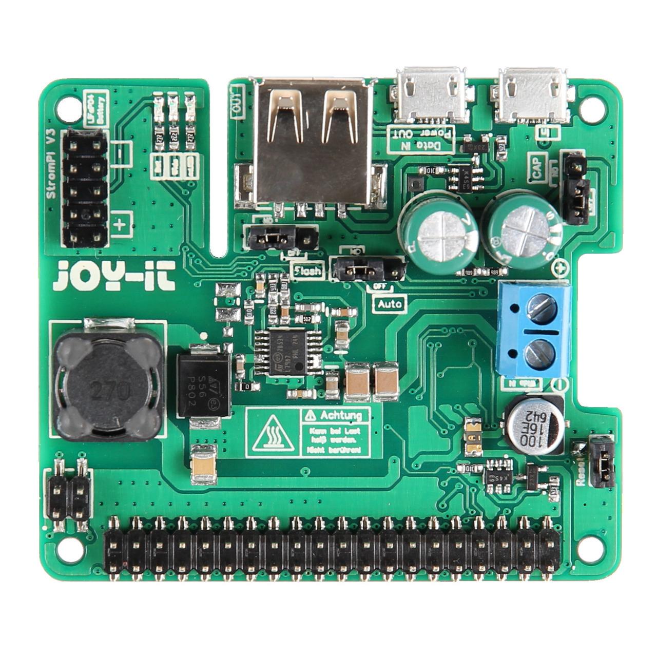 JOY-iT StromPi 3- Stromversorgung und USV fund-252 r Raspberry Pi