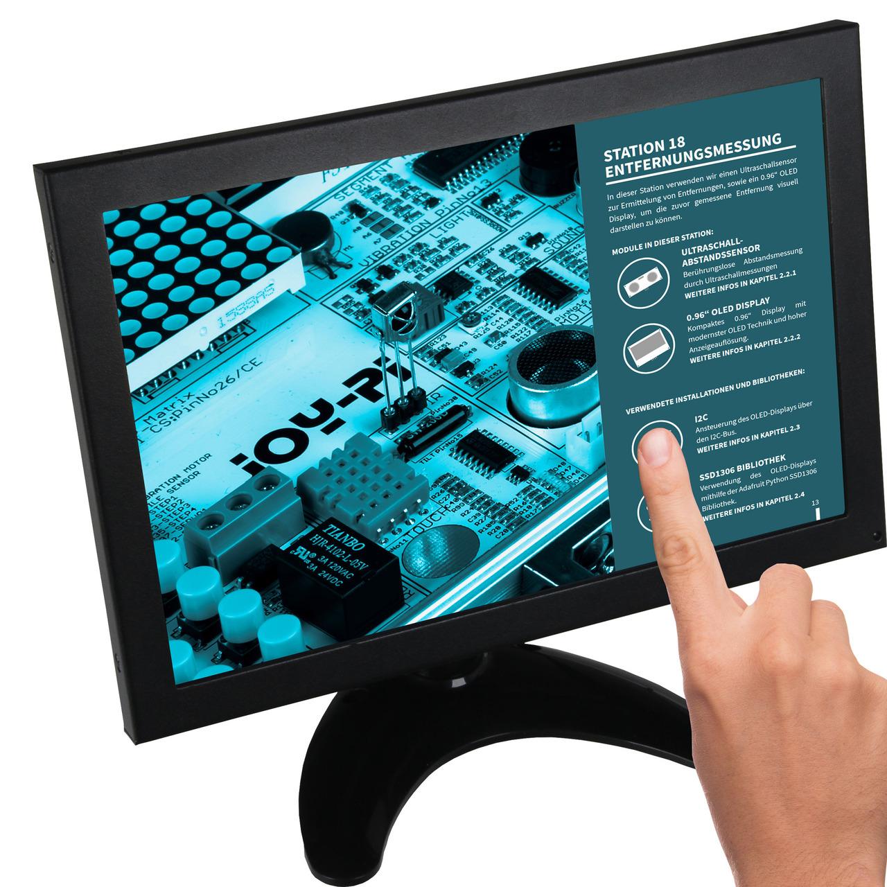 Joy-IT Touchscreen-Monitor RB-LCD-10-2- 10-1-IPS-Display- Metallgehäuse- geeignet für Raspberry Pi