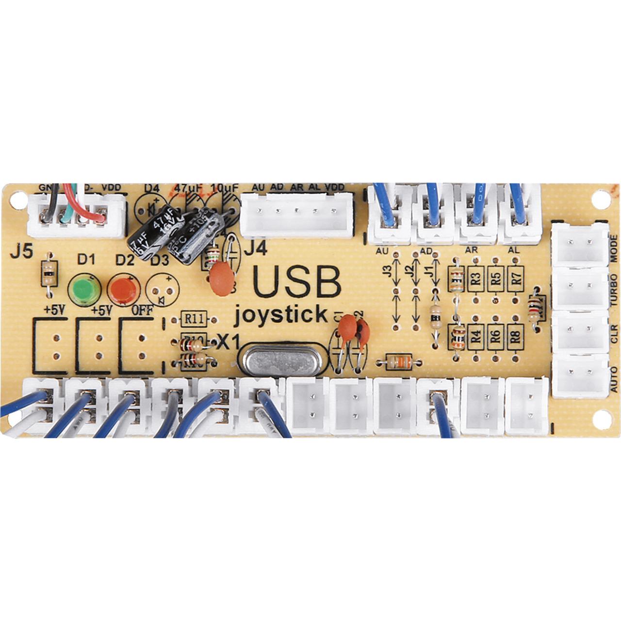 JOY-iT Zero Delay Encoder-Board fund-252 r Joysticks oder Bedientastern inkl- Kabelsatz