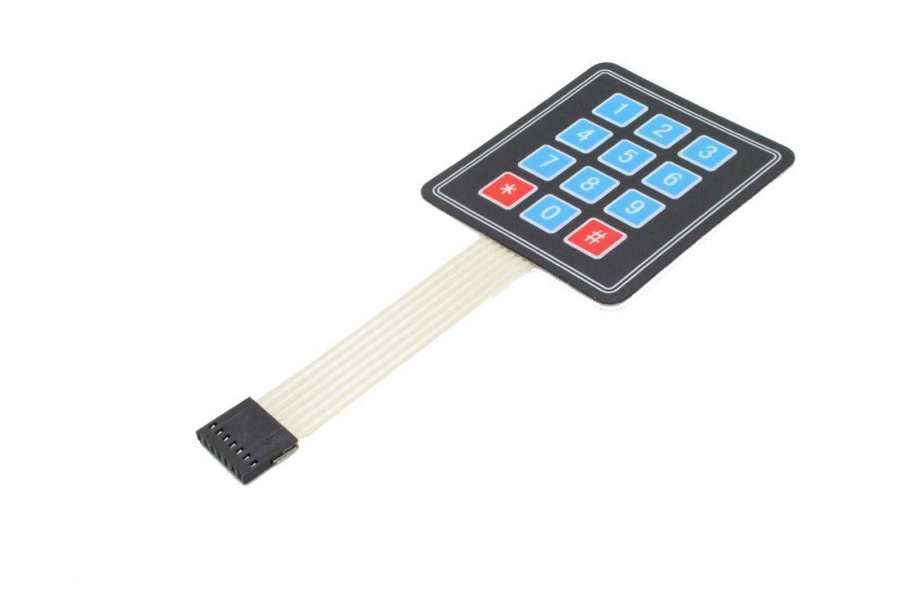 Keypad - Tastenfeld mit 12 Tasten mit Membrantastatur