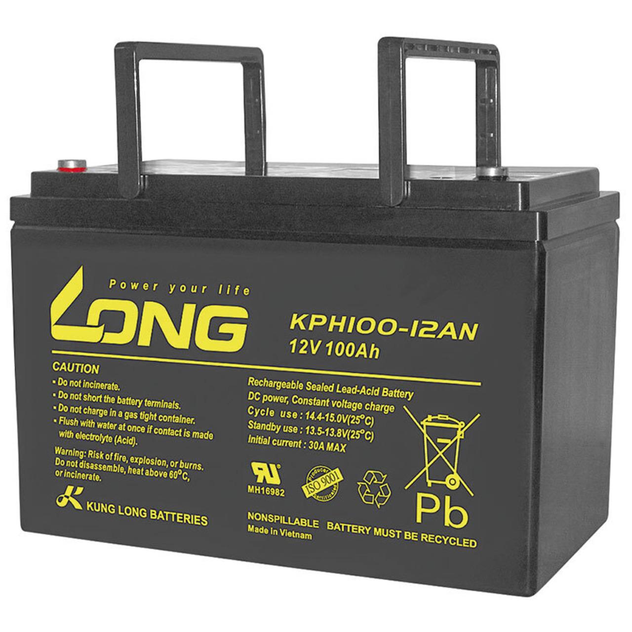 Kung Long Blei-AGM-Akku KPH100-12AN- 12 V- 100 Ah