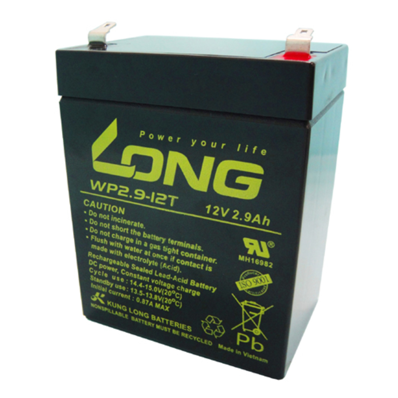 Kung Long Blei-AGM-Akku WP2-9-12T- 12 V- 2-9 Ah