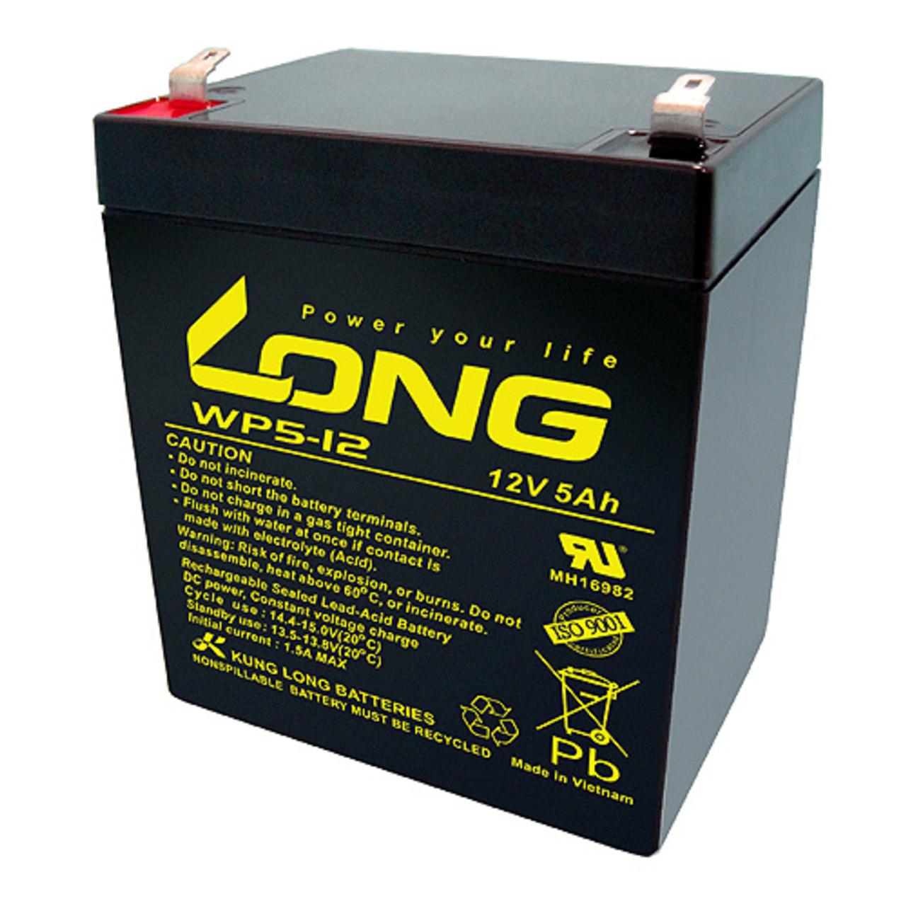Kung Long Blei-AGM-Akku WP5-12- 12 V- 5 Ah