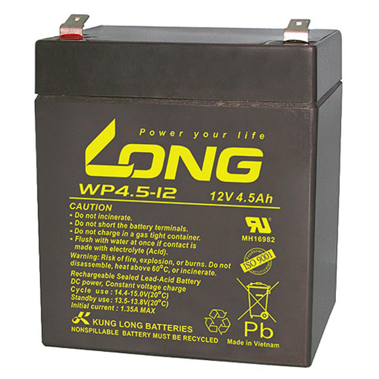 Kung Long VdS-Blei-AGM-Akku WP4-5-12- 12V- 4-5 Ah