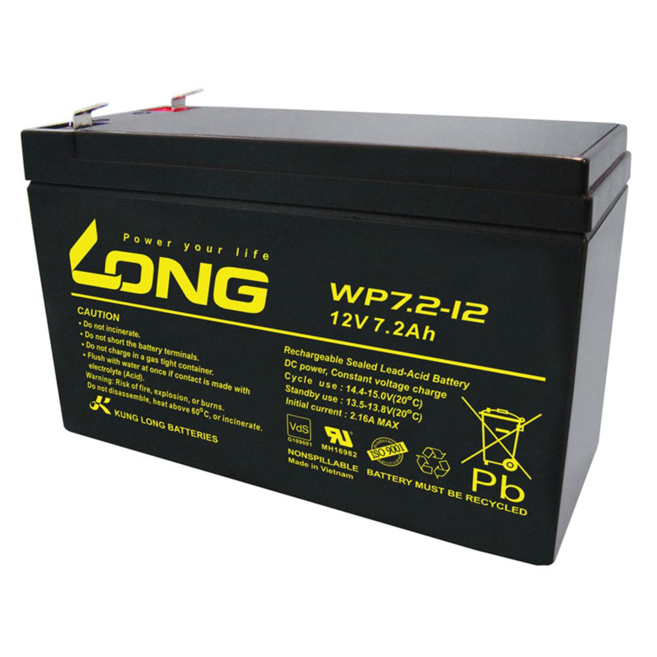 Kung Long VdS-Blei-AGM-Akku WP7-2-12- 12V- 7-2 Ah