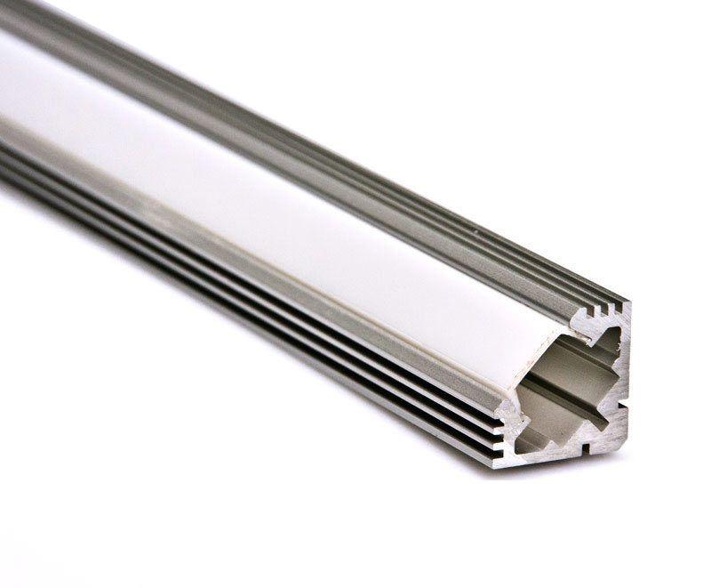 LED Aluminium Profil Schiene + Abdeckung WINKEL 5 Meter