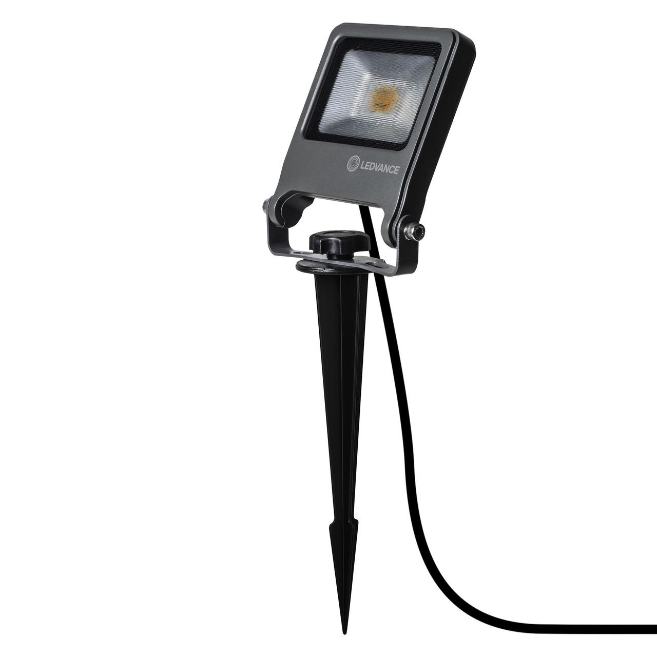 Ledvance 10-W-LED-Auund-223 en-Fluterleuchte ENDURA GARDEN FLOOD- mit Erdspieund-223 - Plug-undamp -Play- IP65