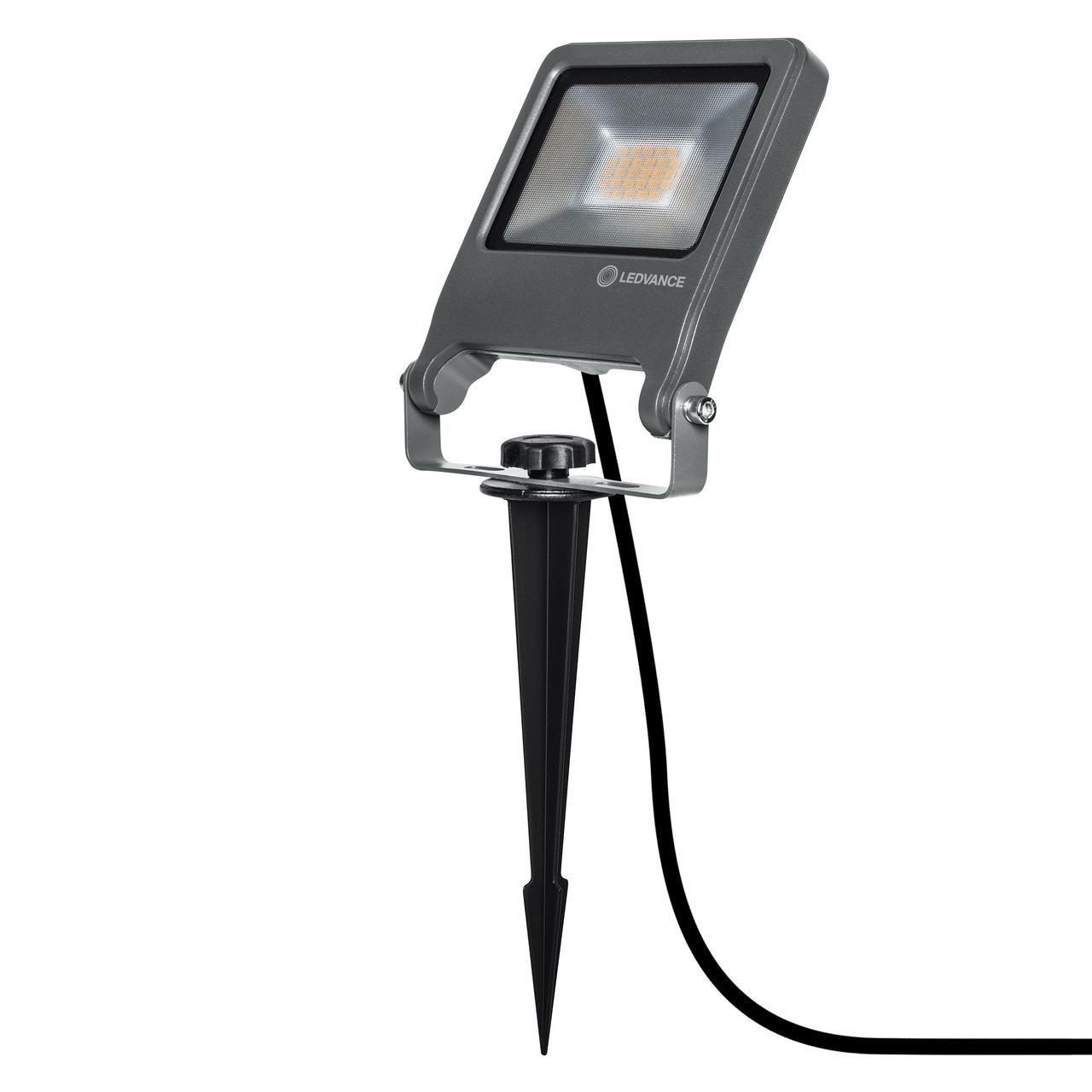 Ledvance 20-W-LED-Auund-223 en-Fluterleuchte ENDURA GARDEN FLOOD- mit Erdspieund-223 - Plug-undamp -Play- IP65