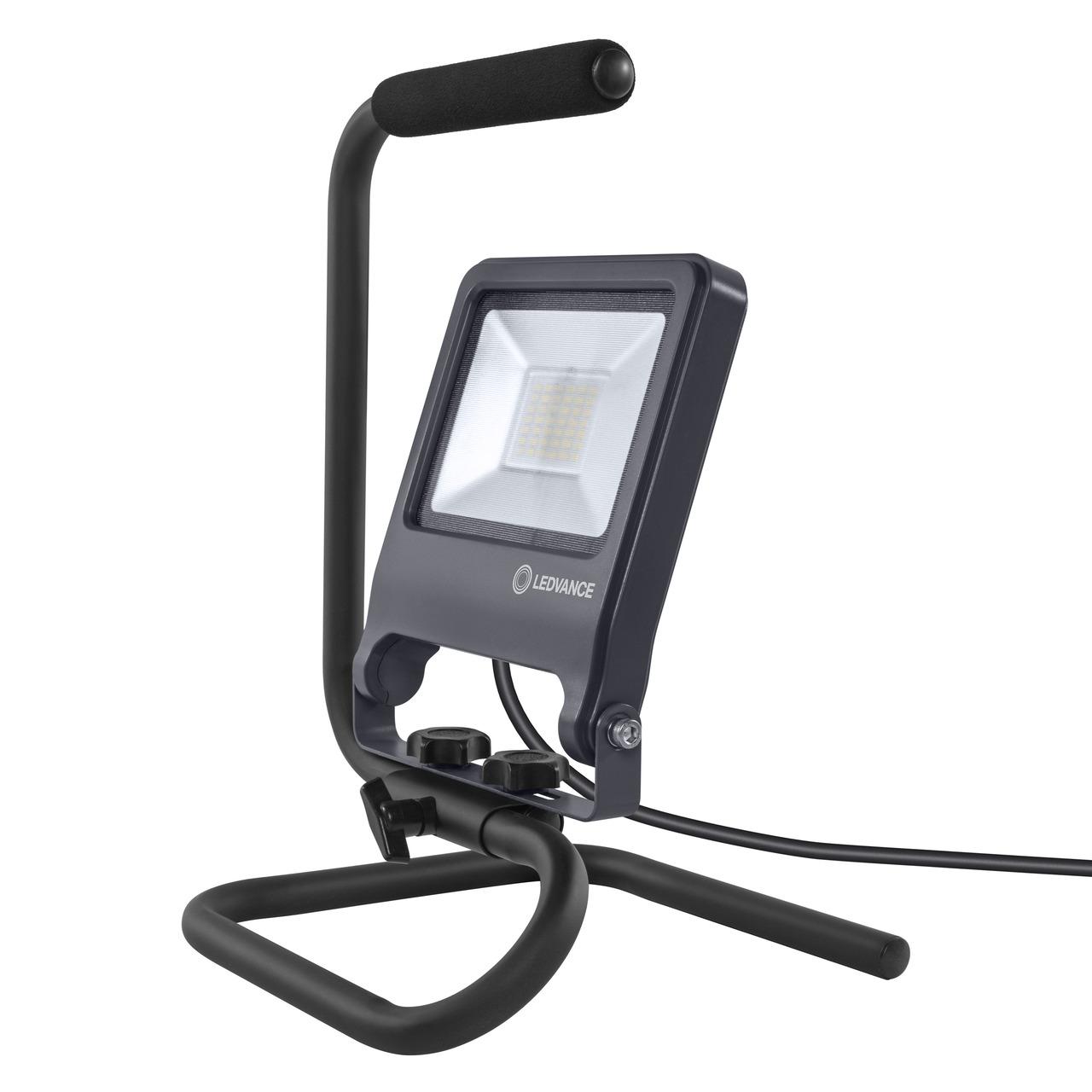 Ledvance 30-W-LED-Arbeitsleuchte Worklight S-STAND- 2700 lm- 4000 K- schwarz- IP65