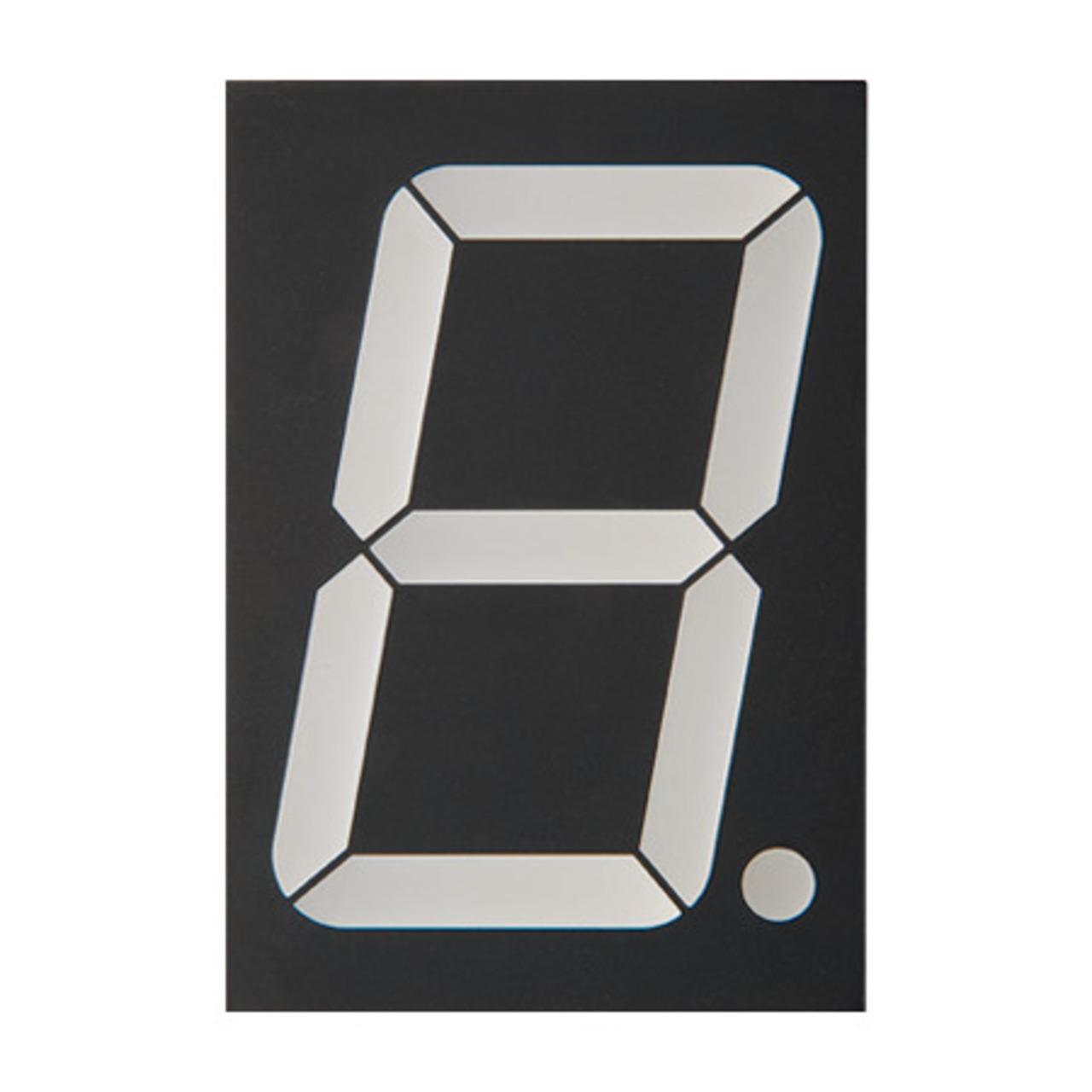 Lucky Light 7-Segment-Anzeige KW1-2301AWB- weiss- 56-8 mm