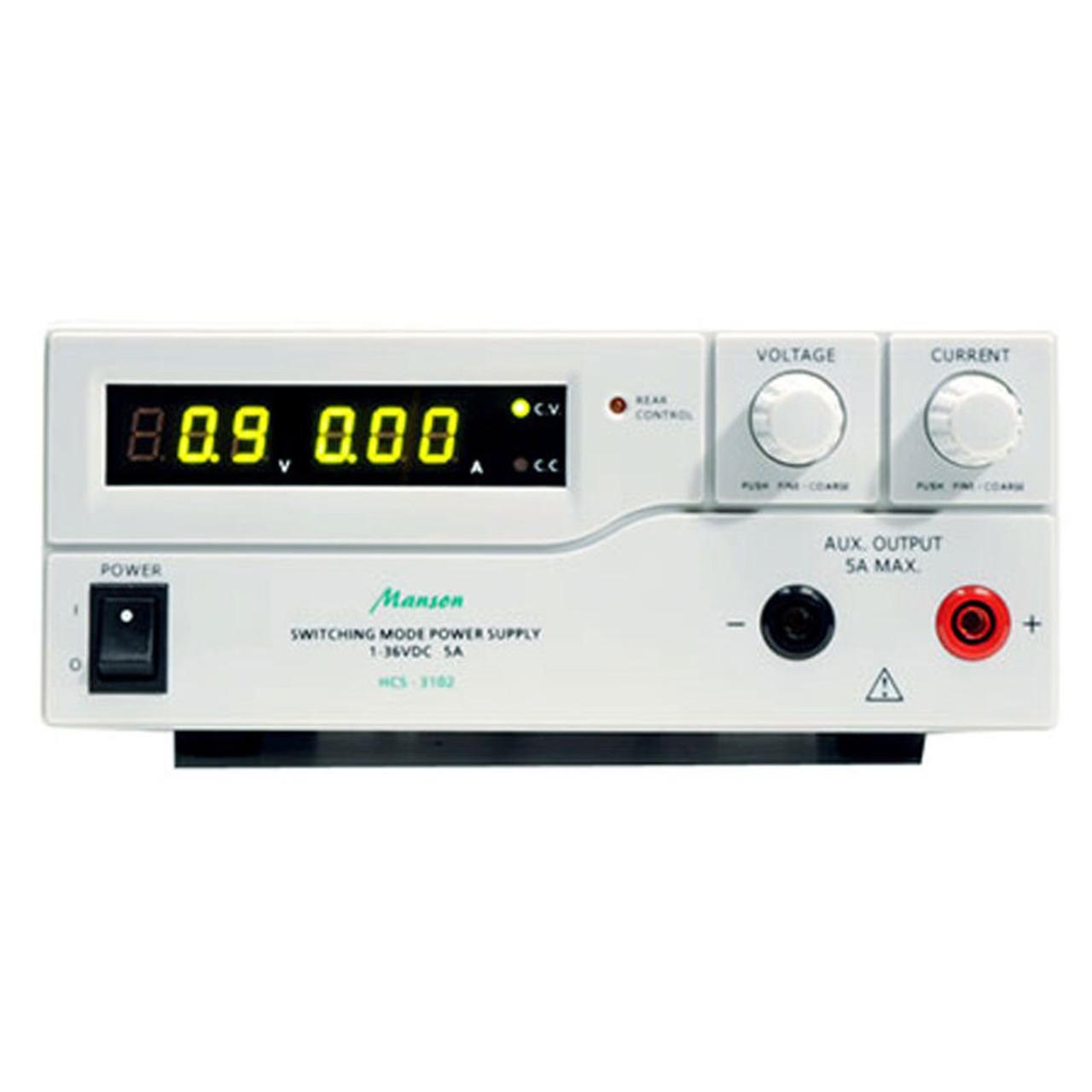 Manson Labornetzgerät HCS-3102 (1-36 V-0-5 A) mit USB-Schnittstelle- programmierbar