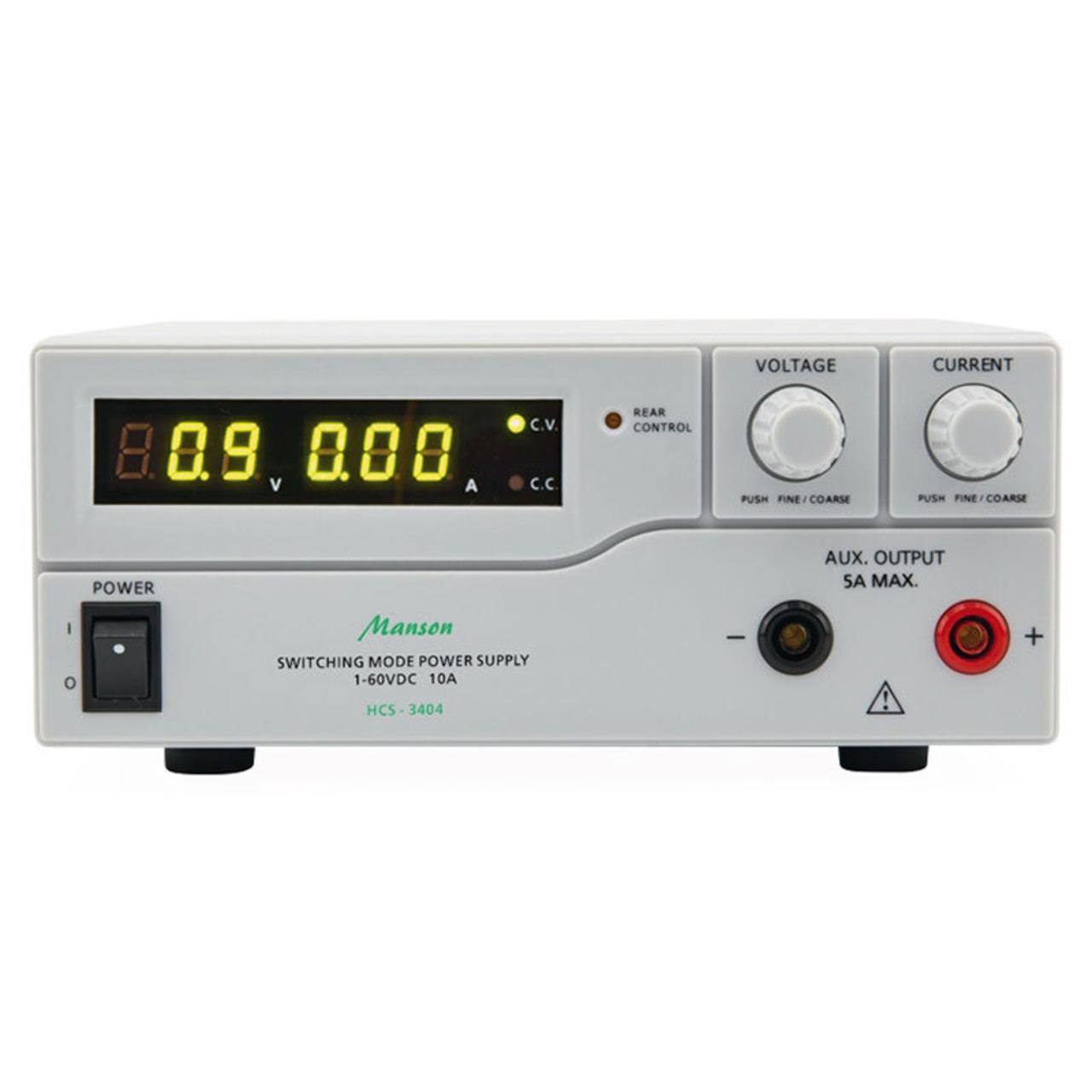 Manson Labornetzgerät HCS-3404 (1-60 V - 0-10 A)- mit USB-Schnittstelle- programmierbar