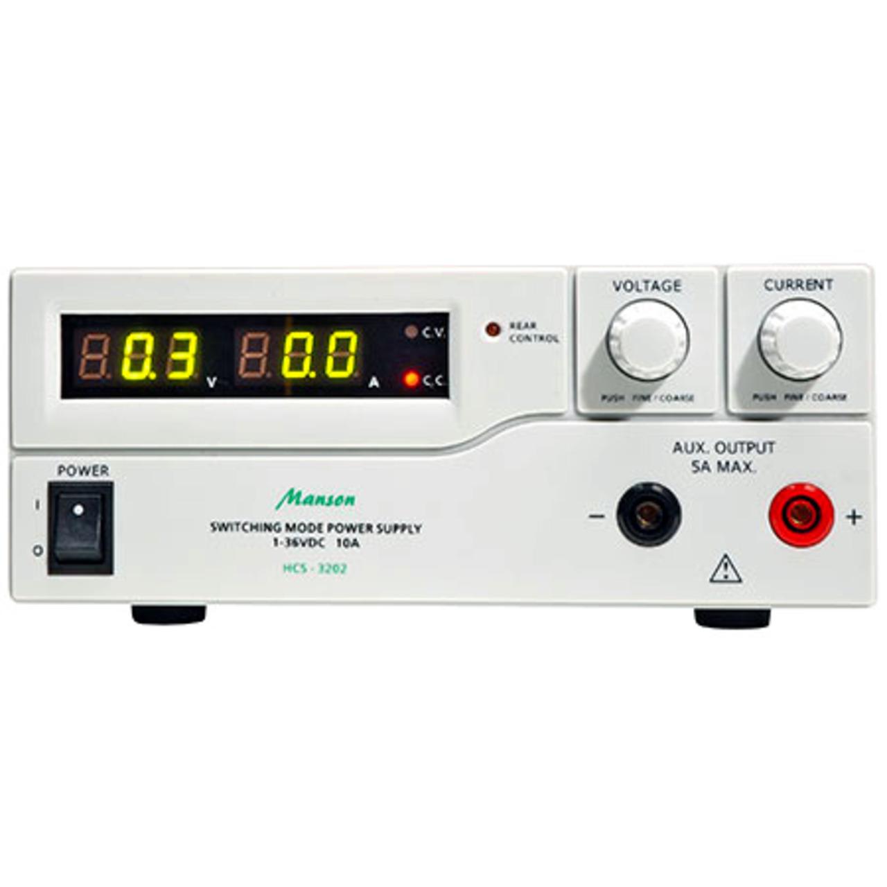 Manson Laborschaltnetzteil HCS-3202 (1-36 V-0-10 A) mit USB-Schnittstelle- programmierbar