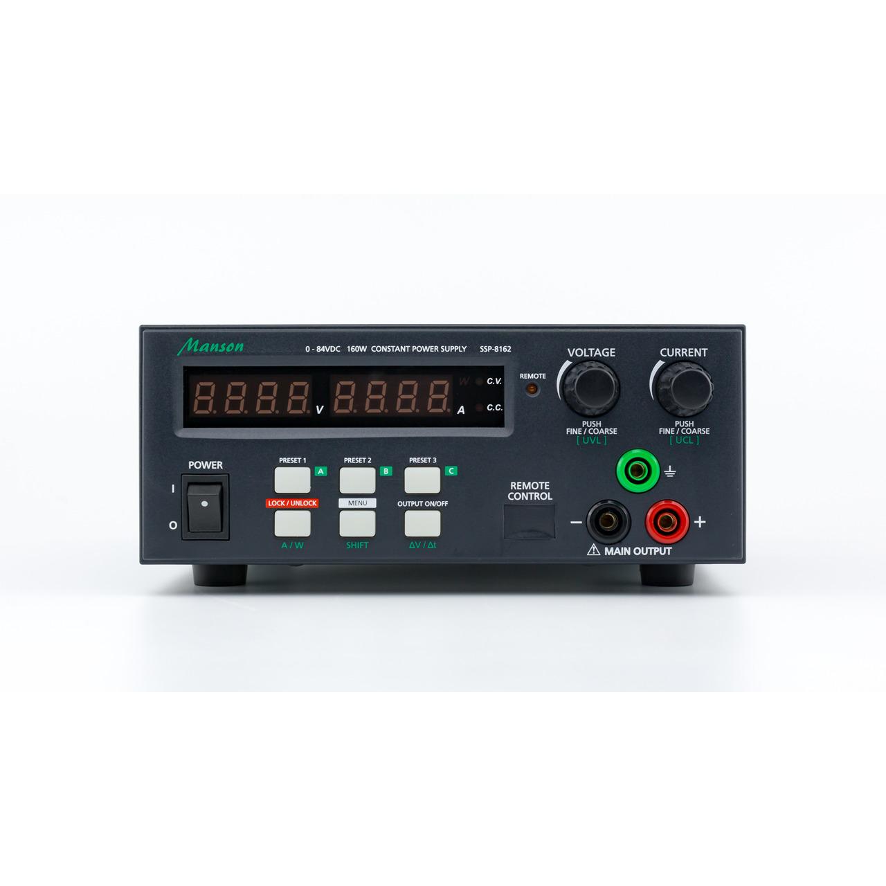 Manson Laborschaltnetzteil SSP-8162 (0-84 V - 0-5 A) mit USB-Schnittstelle- programmierbar