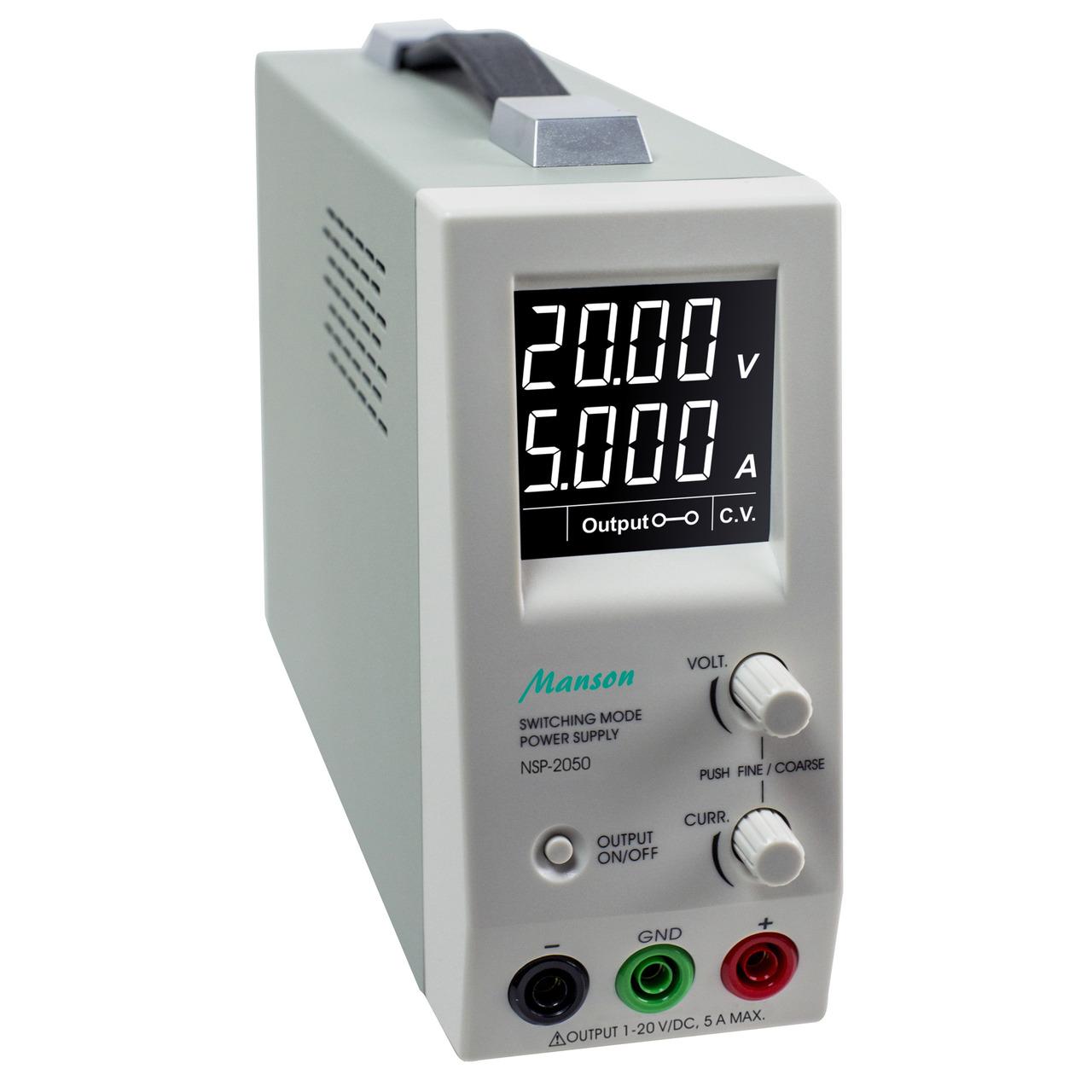 Manson Schaltnetzgerät NSP-2050- 1-20V- 0-5A
