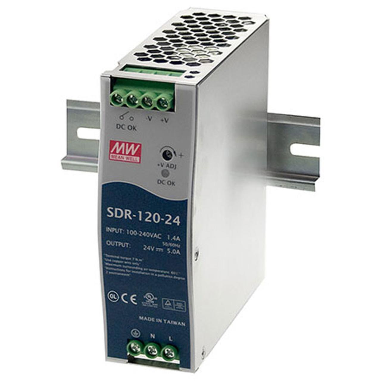 Mean Well 24V-120W Hutschienennetzteil SDR120-24