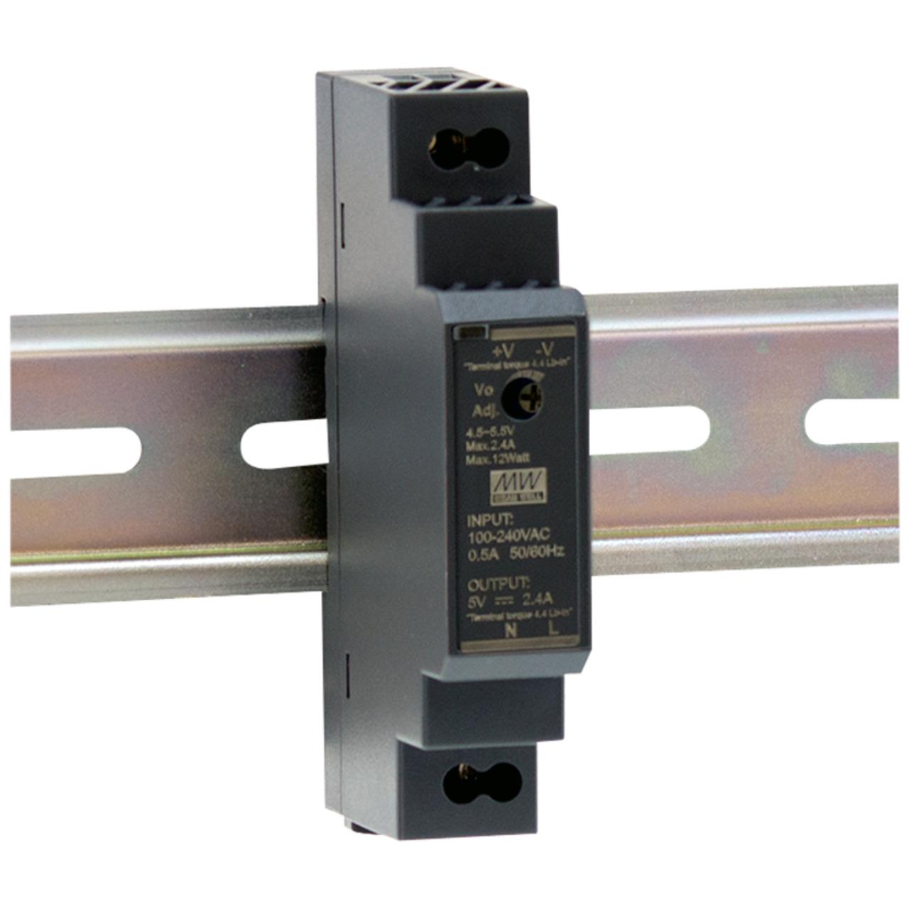 Mean Well Hutschienennetzteil 160 HDR-15-24 24 V- 0-63 A- 15 W- für Smart Home und Haussteuerung
