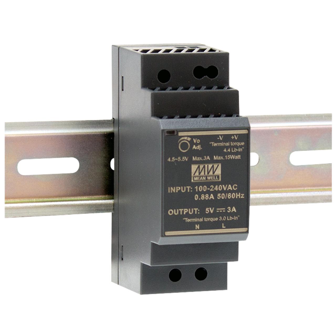 Mean Well Hutschienennetzteil 96 HDR-30-12 12 V- 2 A- 24 W- für Smart Home und Haussteuerung