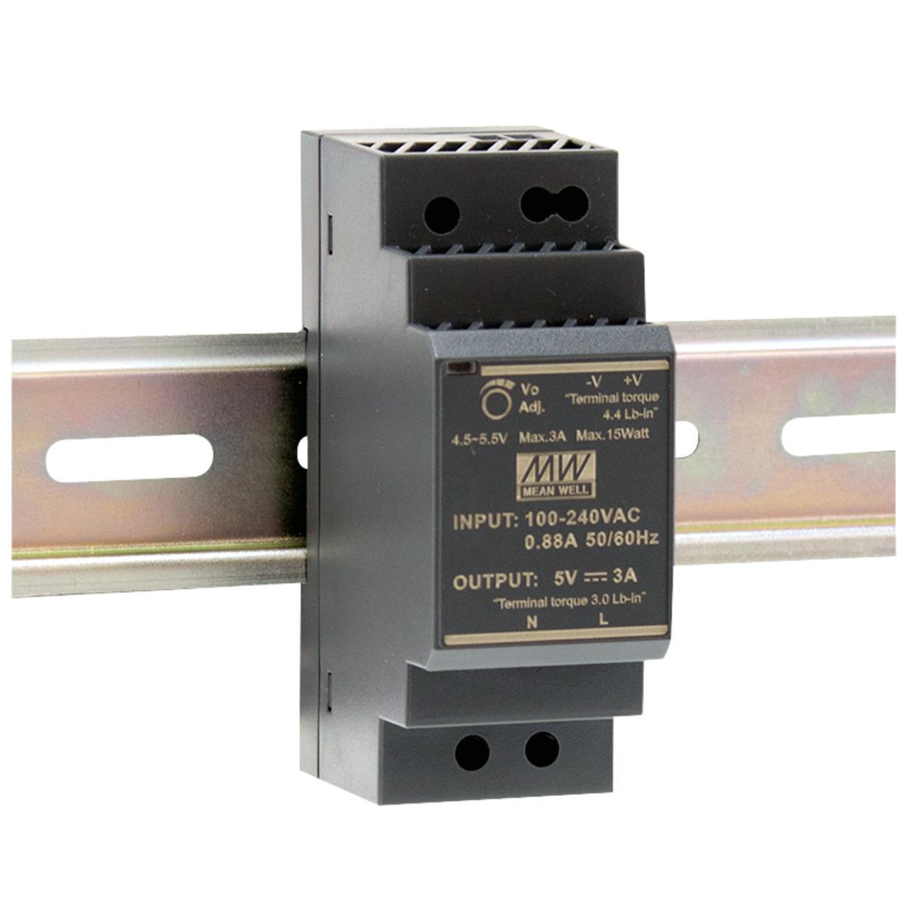 Mean Well Hutschienennetzteil 96 HDR-30-24 24 V- 1-5 A- 36 W- für Smart Home und Haussteuerung
