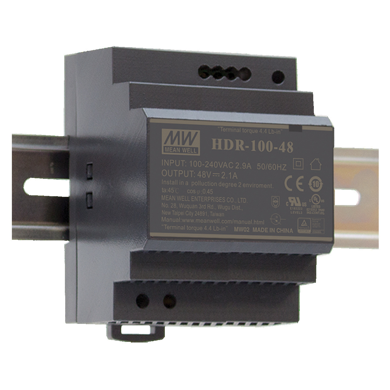 Mean Well Hutschienennetzteil HDR-100-12 12 V- 7-1 A- 85-2 W- fund-252 r Smart Home und Haussteuerung
