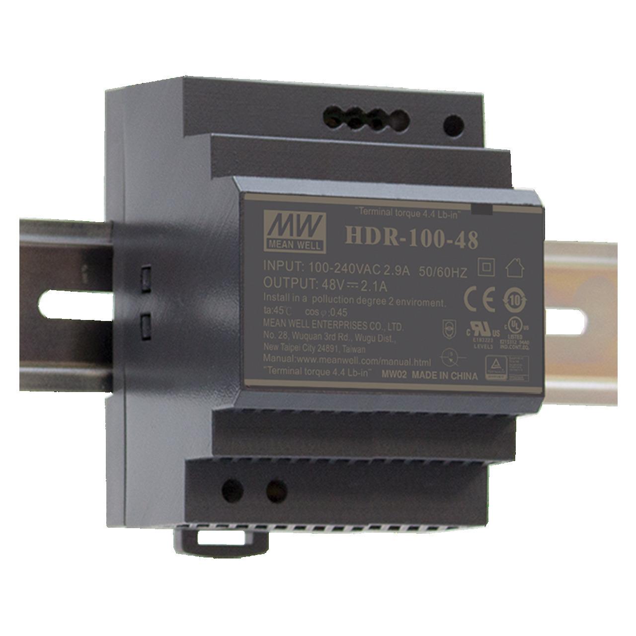 Mean Well Hutschienennetzteil HDR-100-24 24 V- 3-83 A- 92 W- für Smart Home und Haussteuerung