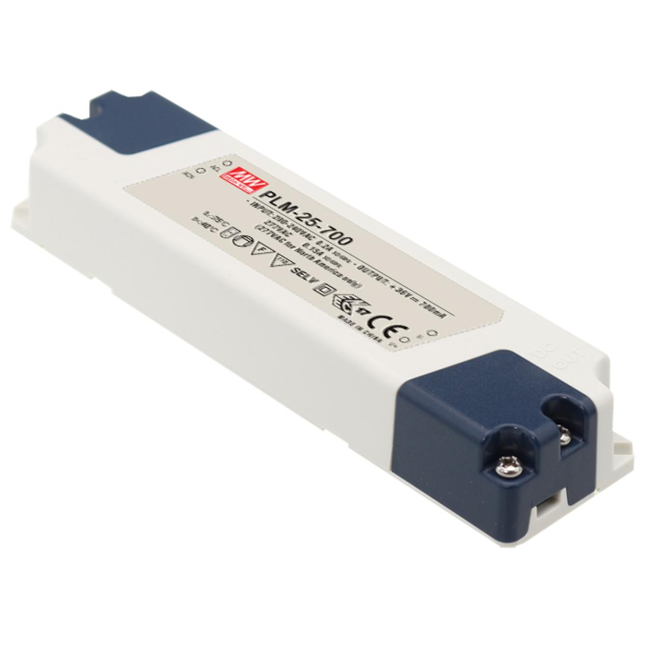 Mean Well Konstantstrom-Netzteil PLM-25-700- 25 W- 700 mA- 30 - 50 V- dimmbar- IP30