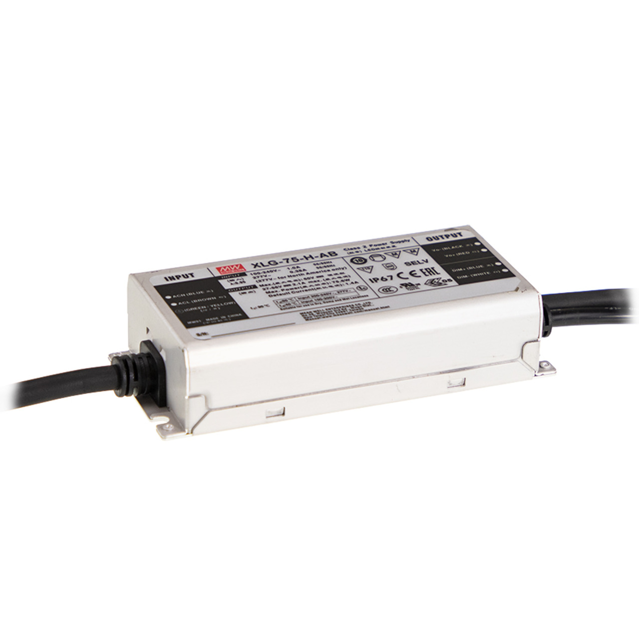 Mean Well Konstantstrom-Netzteil XLG-75-H-AB- 75 W- 1400 mA- 27 - 56 VDC- dimmbar- IP67