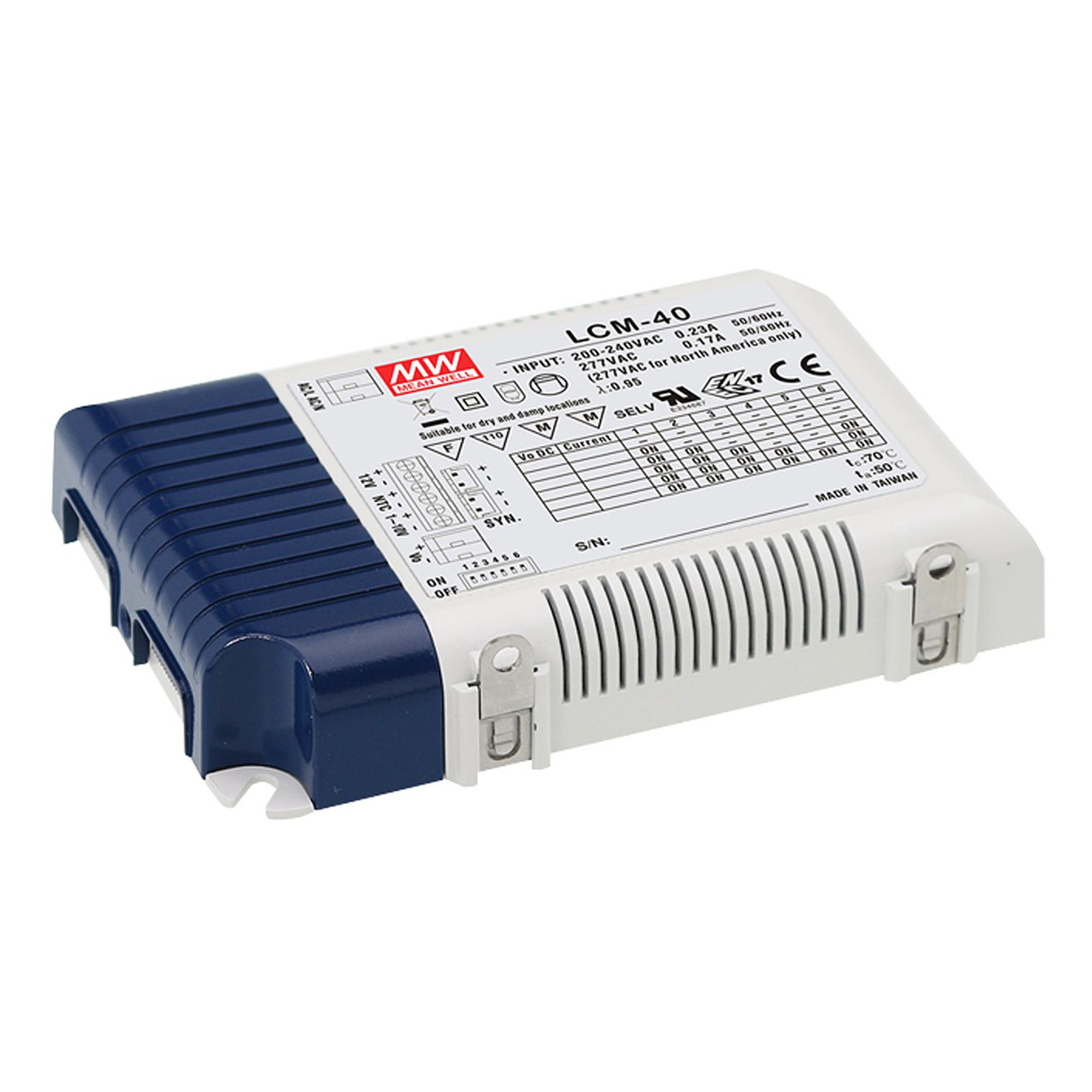 Mean Well LED-Netzteil LCM-40- 42W- 2-100V- IP20- dimmbar